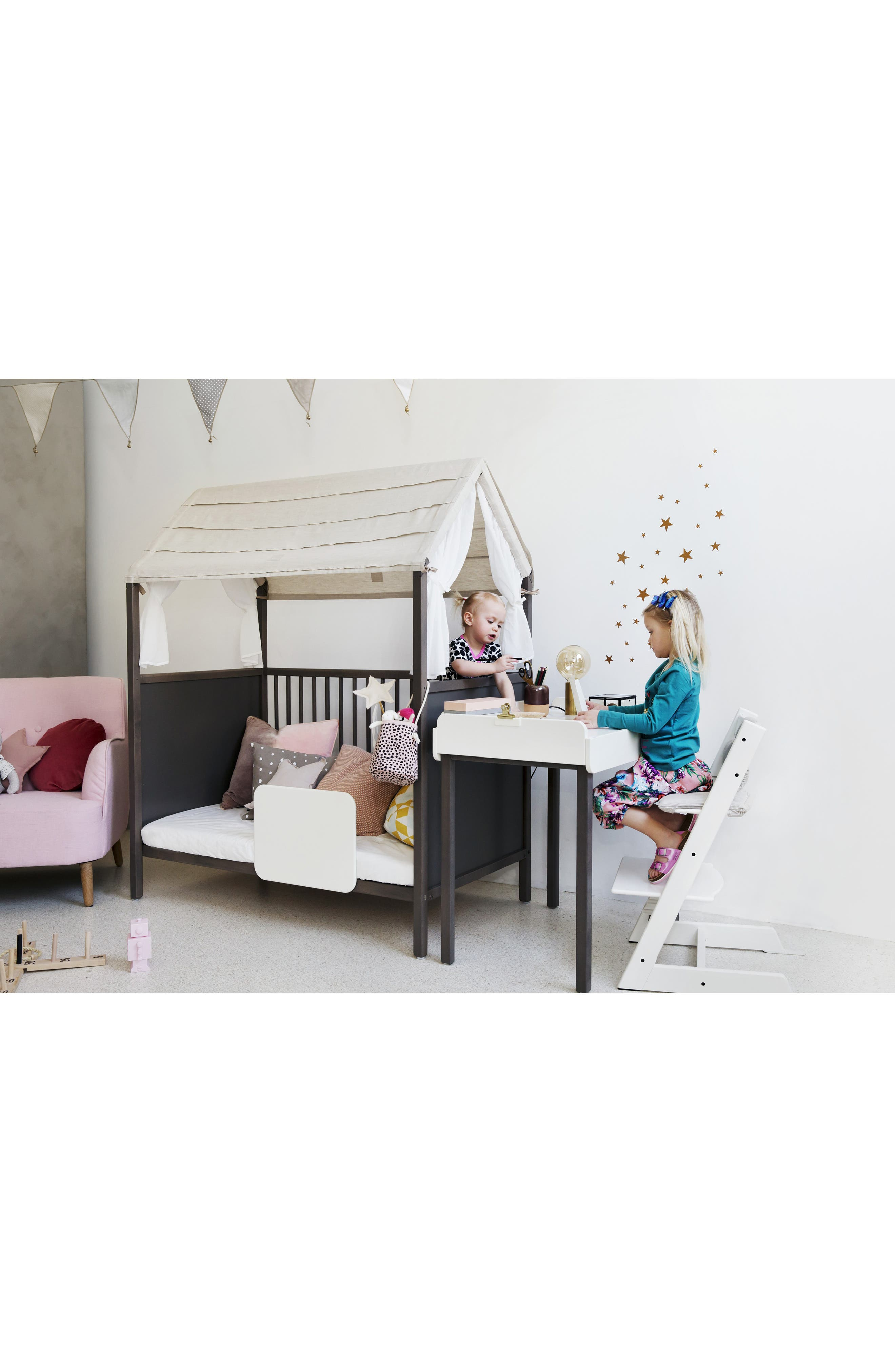 STOKKE, 'Home<sup>™</sup>' Bed, Alternate thumbnail 5, color, HAZY GREY