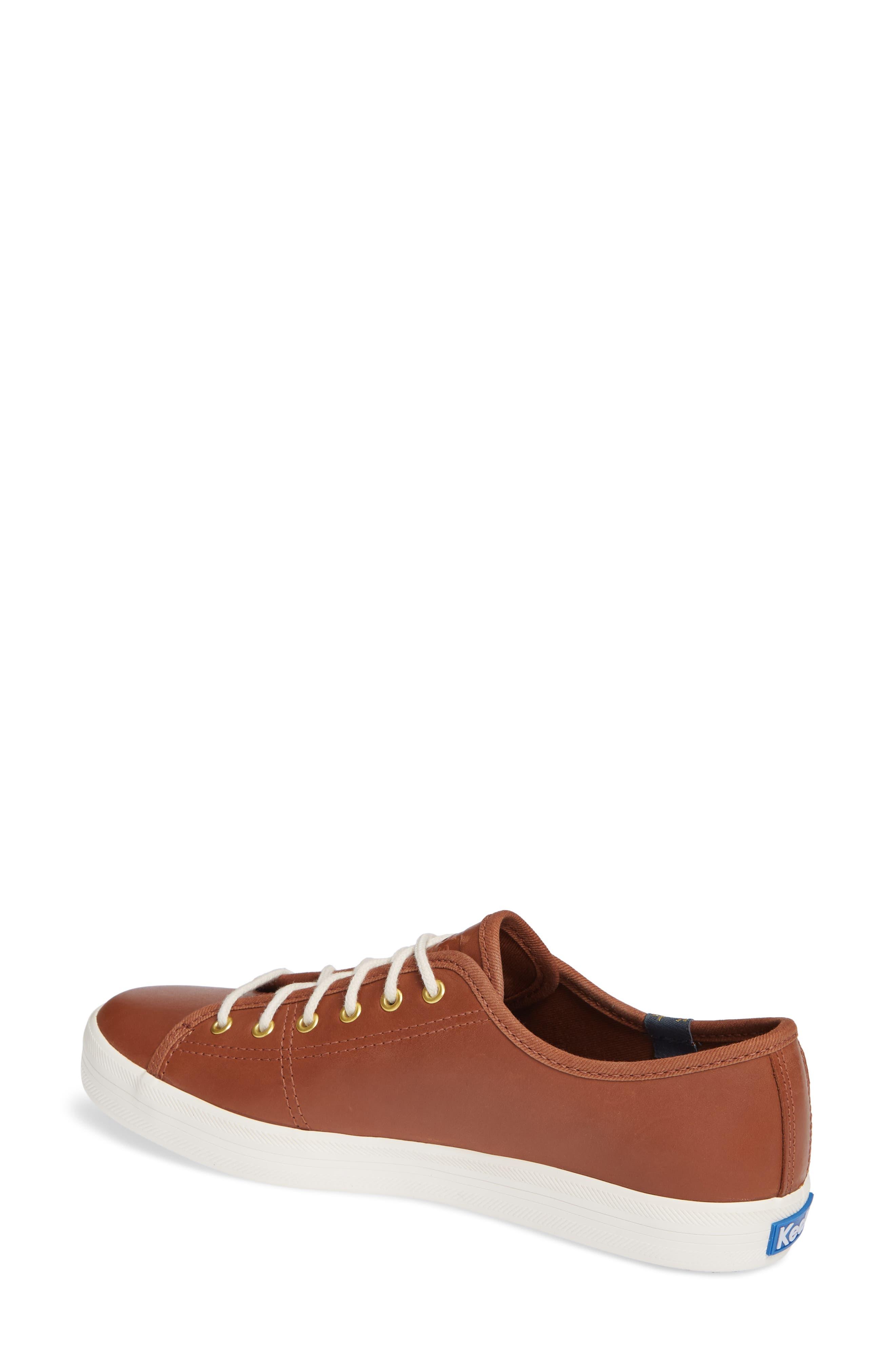 KEDS<SUP>®</SUP>, Kickstart Low Top Sneaker, Alternate thumbnail 2, color, COGNAC