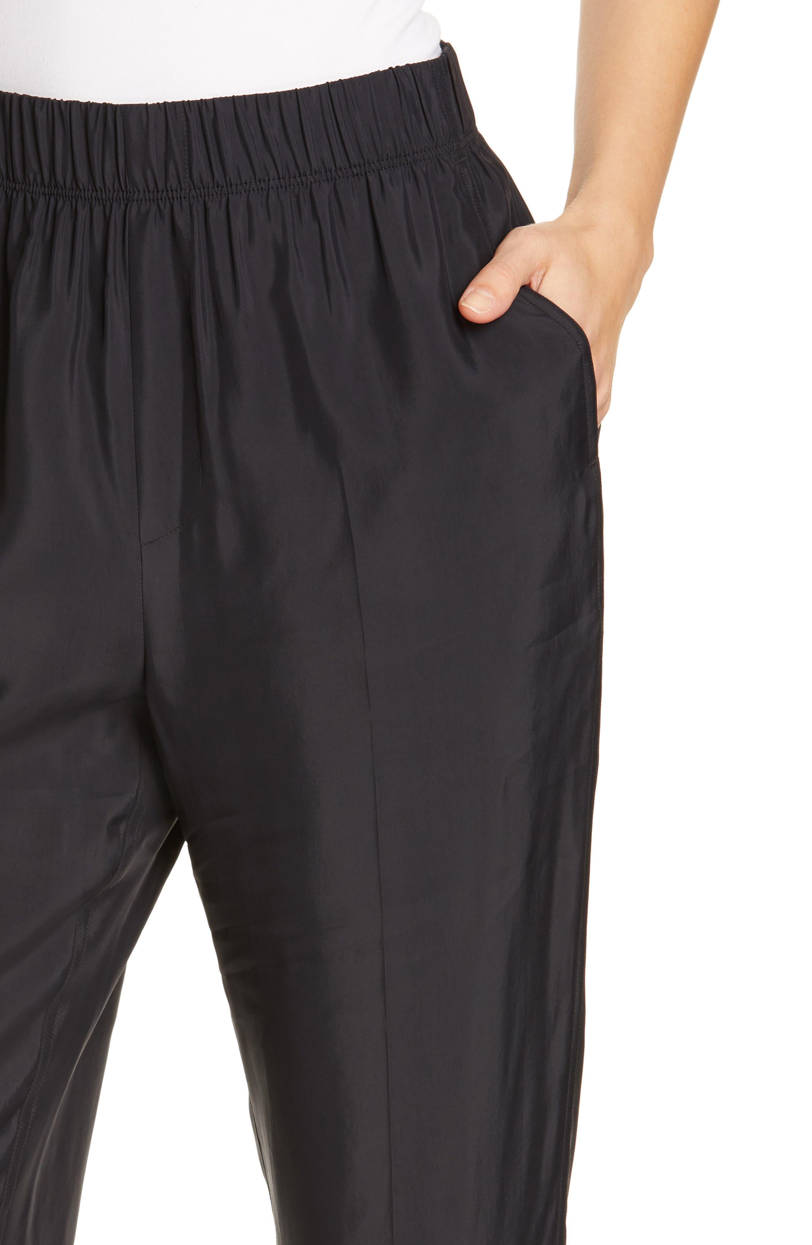 HELMUT LANG, Pull-On Pants, Alternate thumbnail 4, color, BLACK