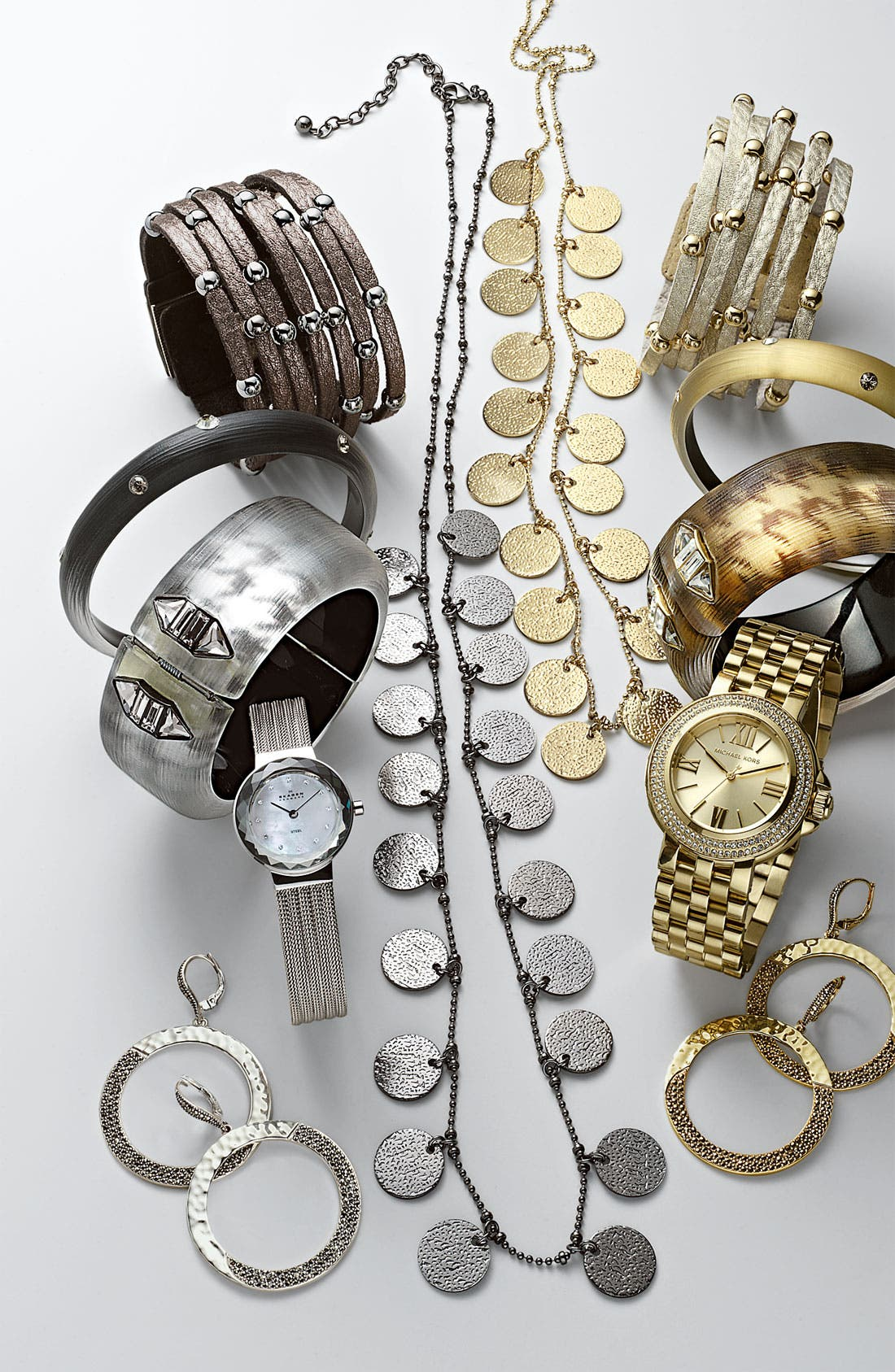 MICHAEL MICHAEL KORS, Michael Kors 'Lucy' Crystal Bezel Bracelet Watch, Alternate thumbnail 2, color, 040