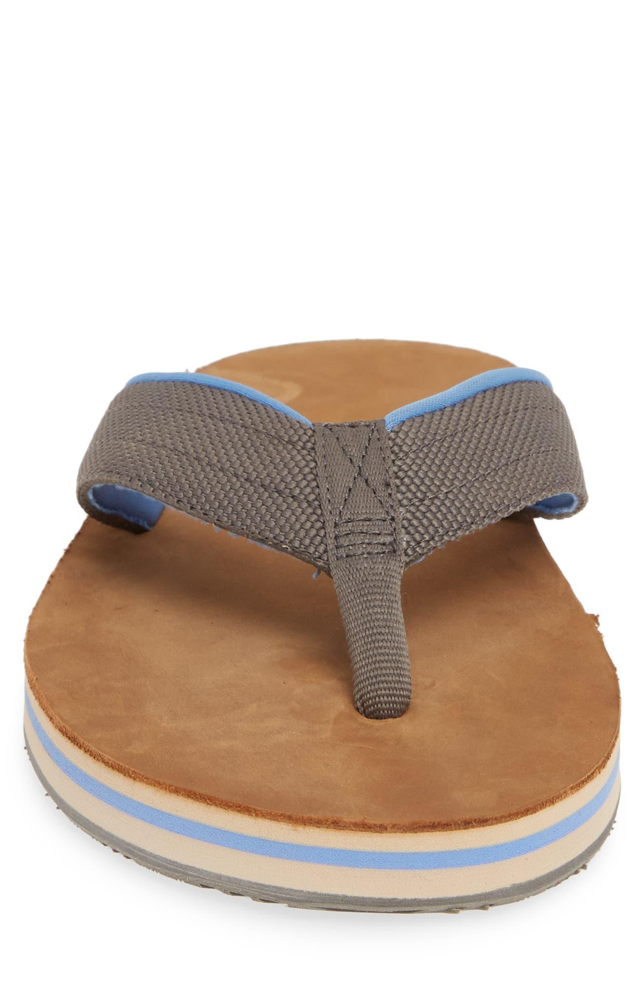HARI MARI, 'Scouts' Flip Flop, Alternate thumbnail 4, color, GRAY/ BLUE