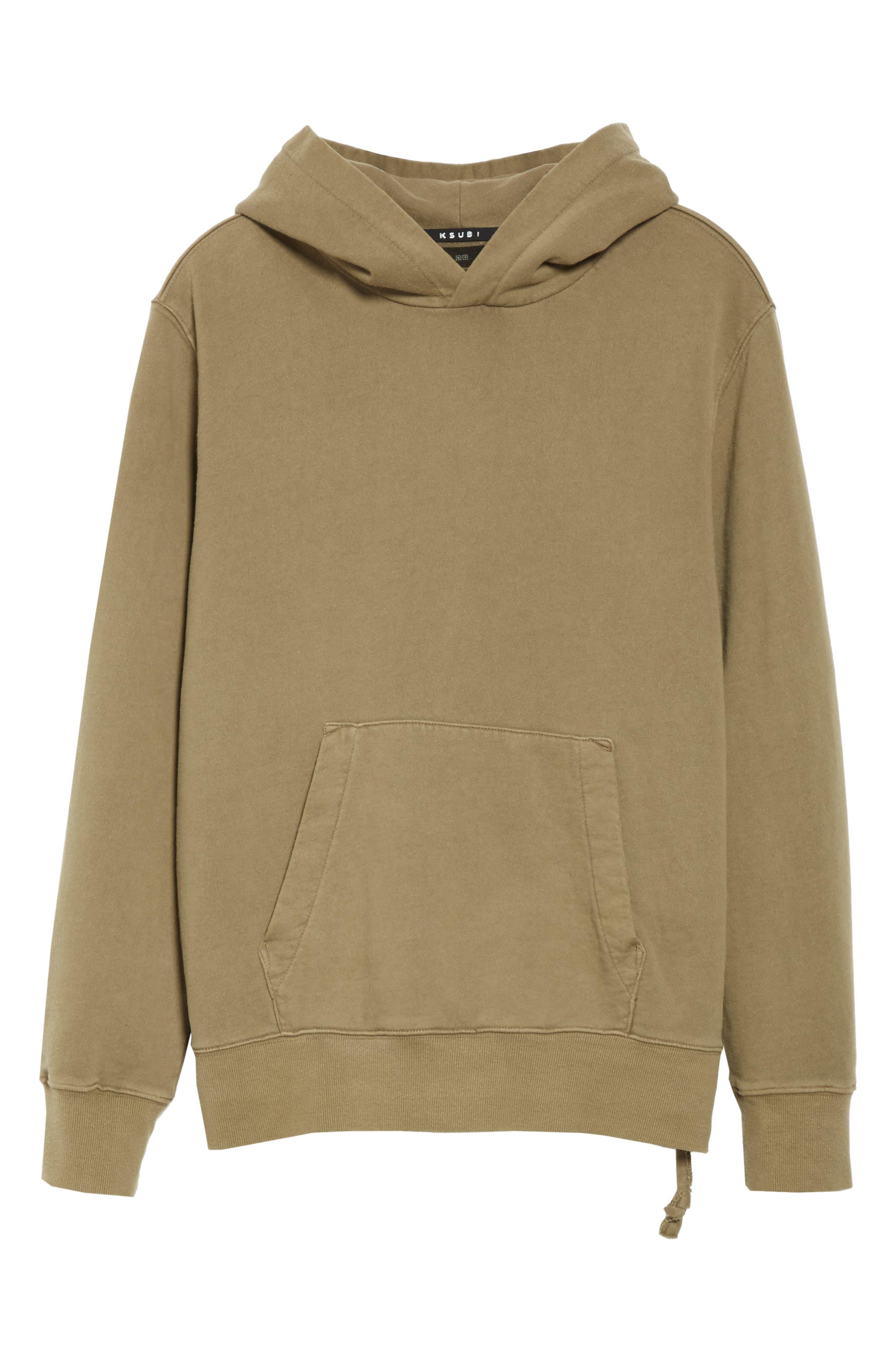KSUBI, Seeing Lines Hooded Sweatshirt, Alternate thumbnail 6, color, BEIGE