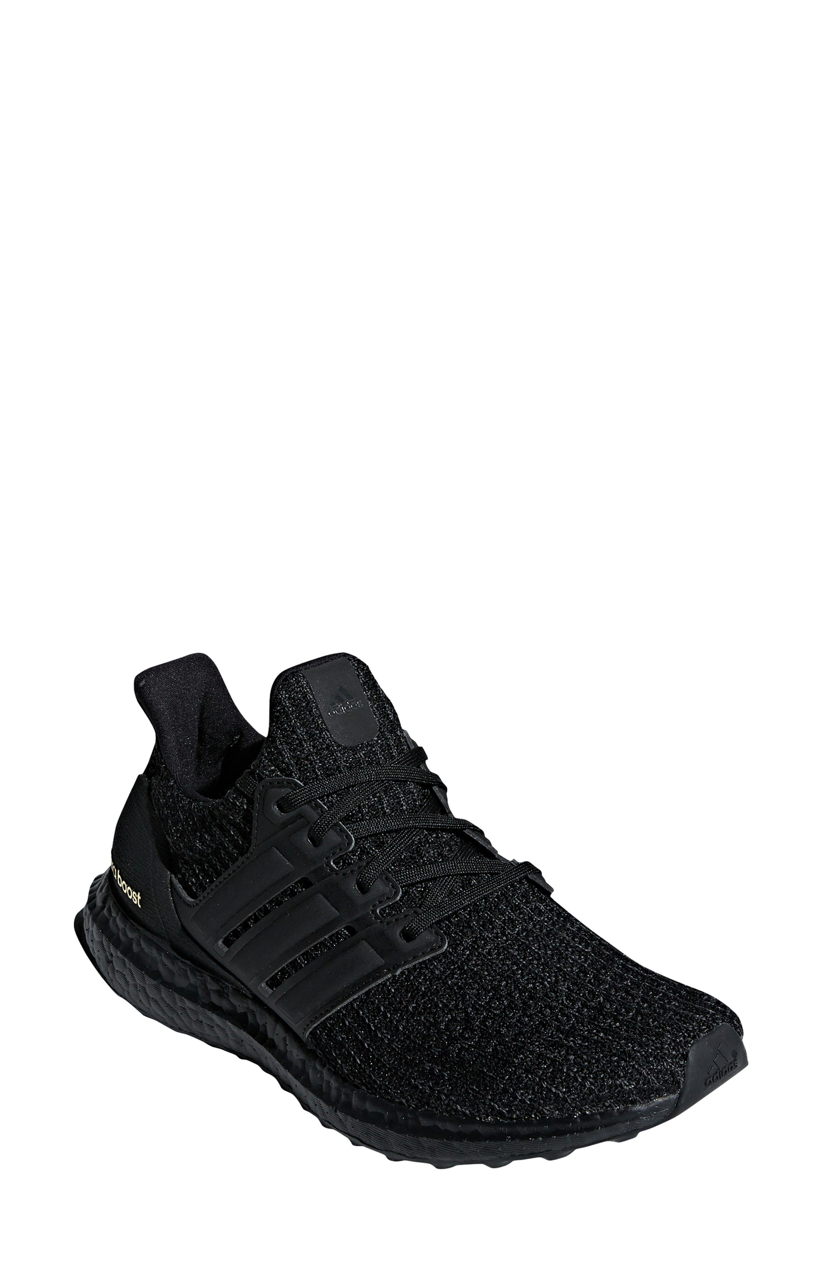 ADIDAS 'UltraBoost' Running Shoe, Main, color, CORE BLACK/ GOLD METALLIC