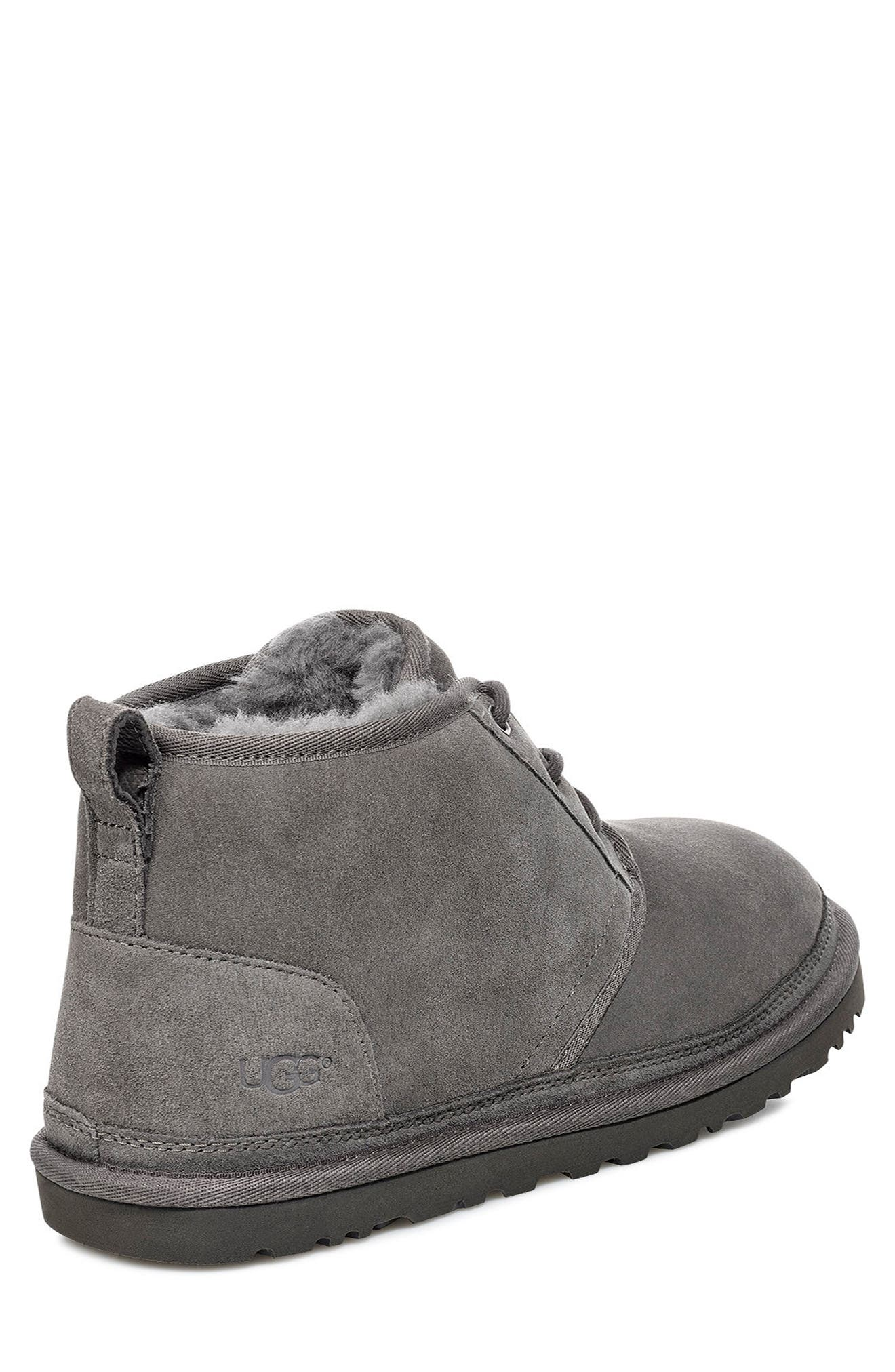 UGG<SUP>®</SUP>, Neumel Chukka Boot, Alternate thumbnail 2, color, CHARCOAL SUEDE