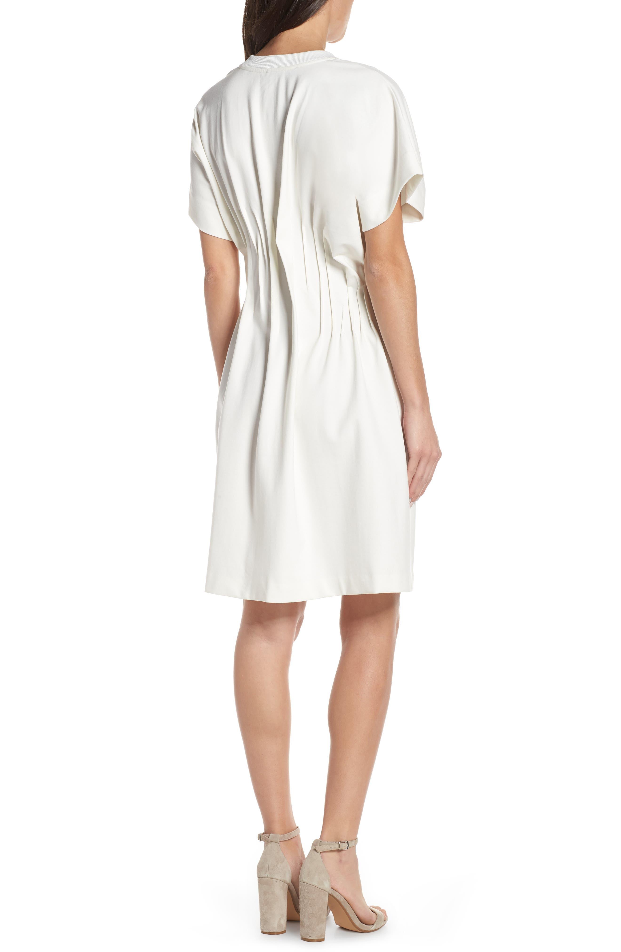 CAARA, Looma T-Shirt Dress, Alternate thumbnail 2, color, WHITE