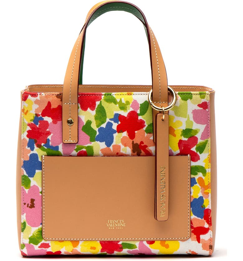 Frances Valentine Totes SMALL CHLOE FLORAL TOTE - BROWN