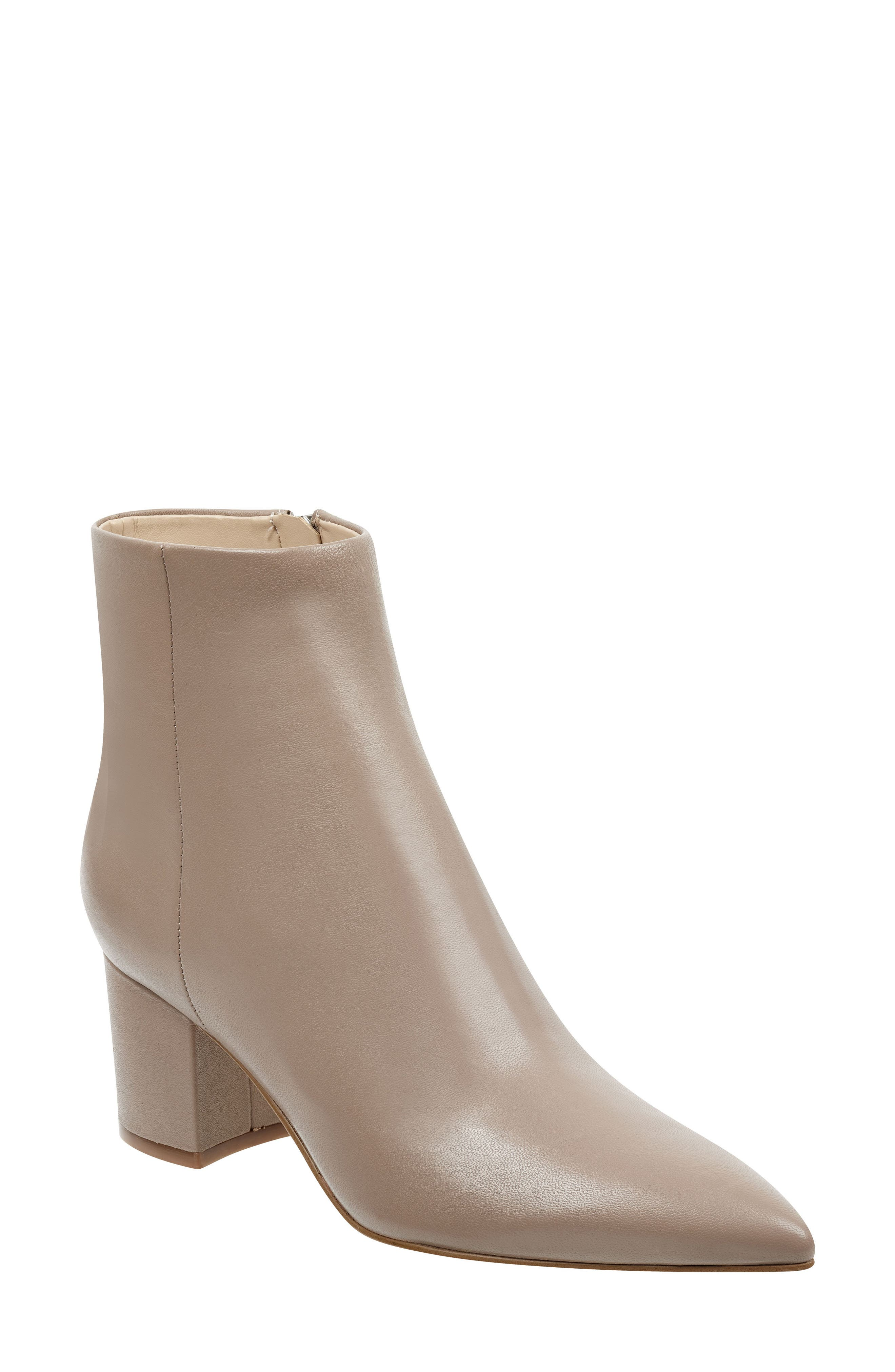 MARC FISHER LTD, Jarli Bootie, Main thumbnail 1, color, TAUPE LEATHER