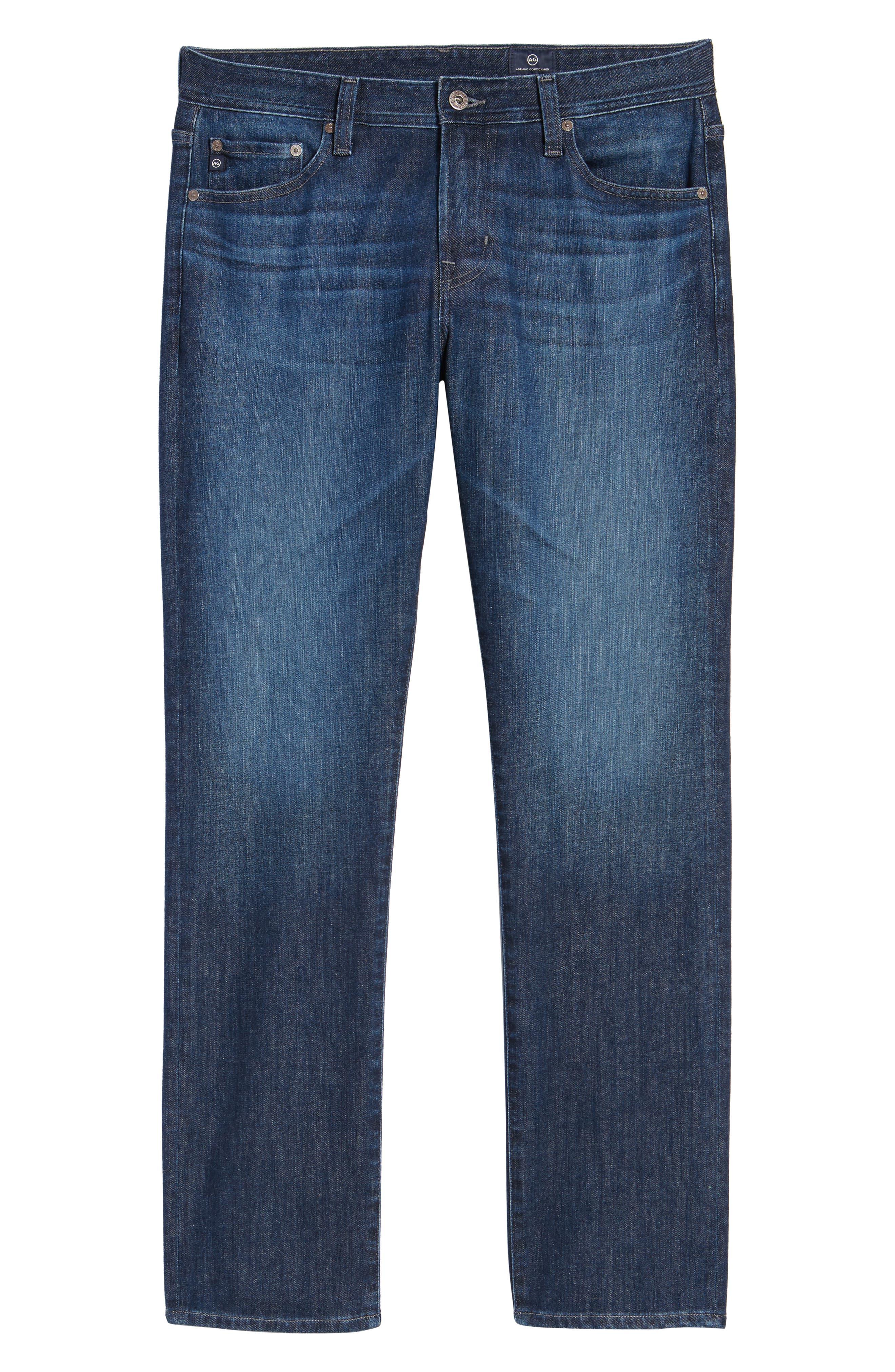 AG, Everett Slim Straight Leg Jeans, Alternate thumbnail 7, color, GAMMA