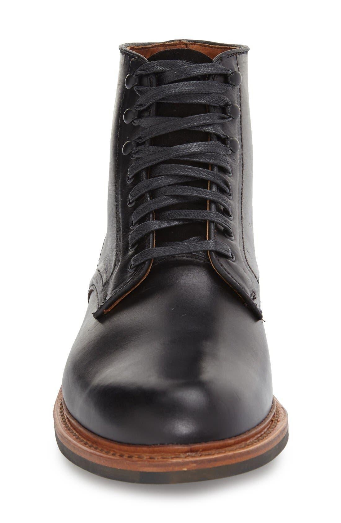 ALLEN EDMONDS, 'Higgins Mill' Plain Toe Boot, Alternate thumbnail 3, color, 001