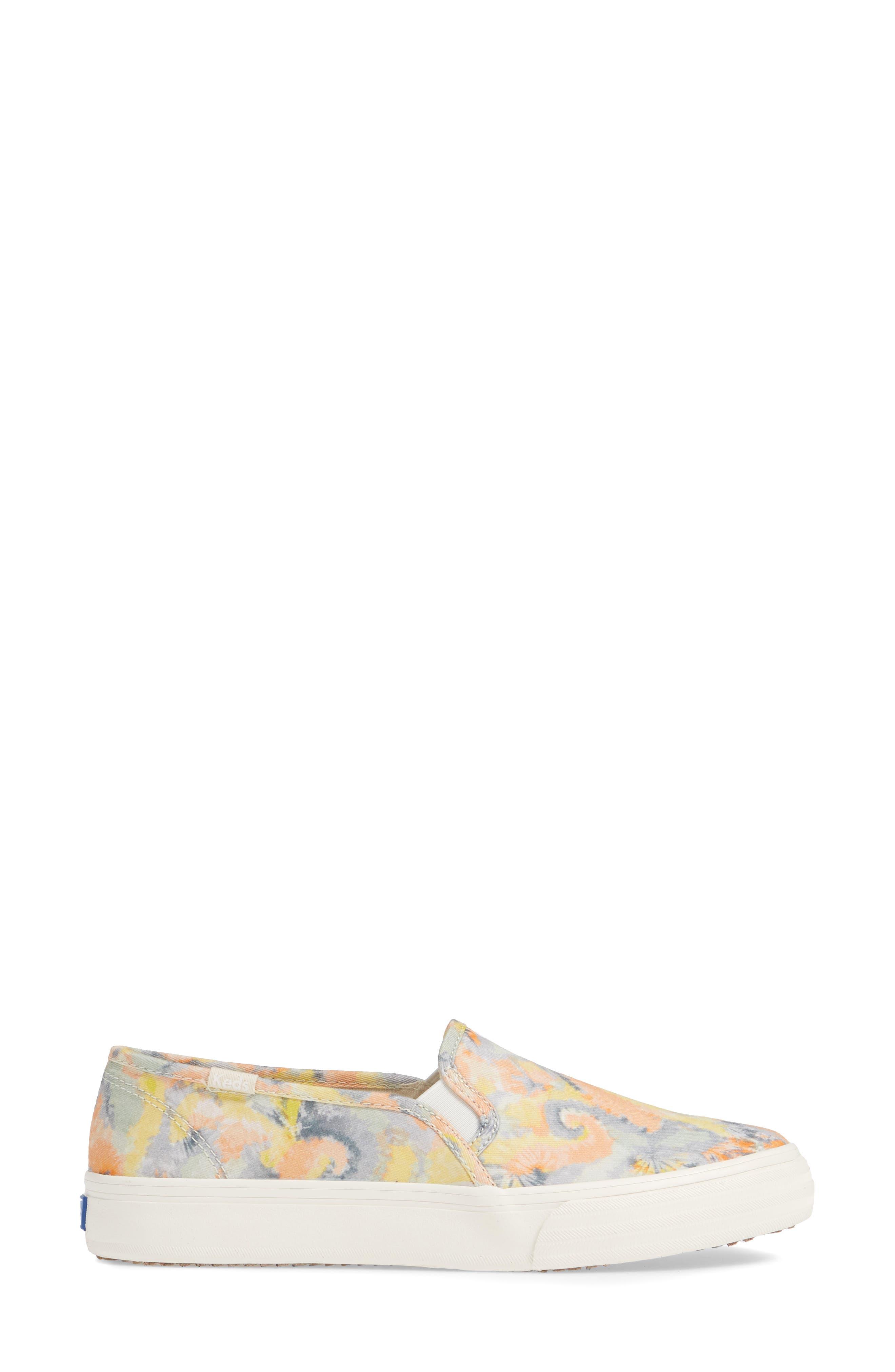 KEDS<SUP>®</SUP>, Double Decker Tie Dye Sneaker, Alternate thumbnail 3, color, PINK MULTI