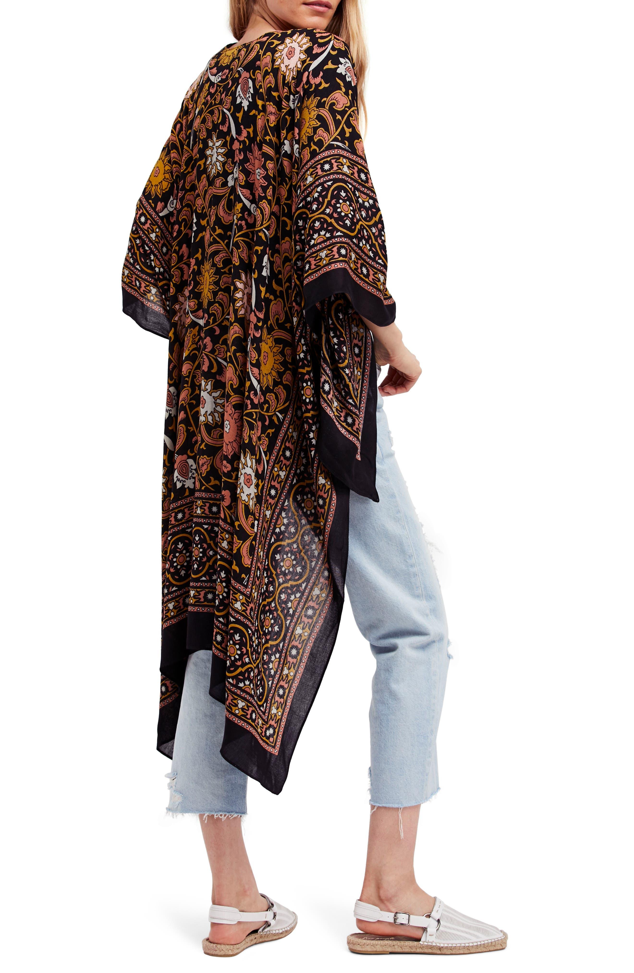 FREE PEOPLE, Magic Dance Kimono, Alternate thumbnail 2, color, 001