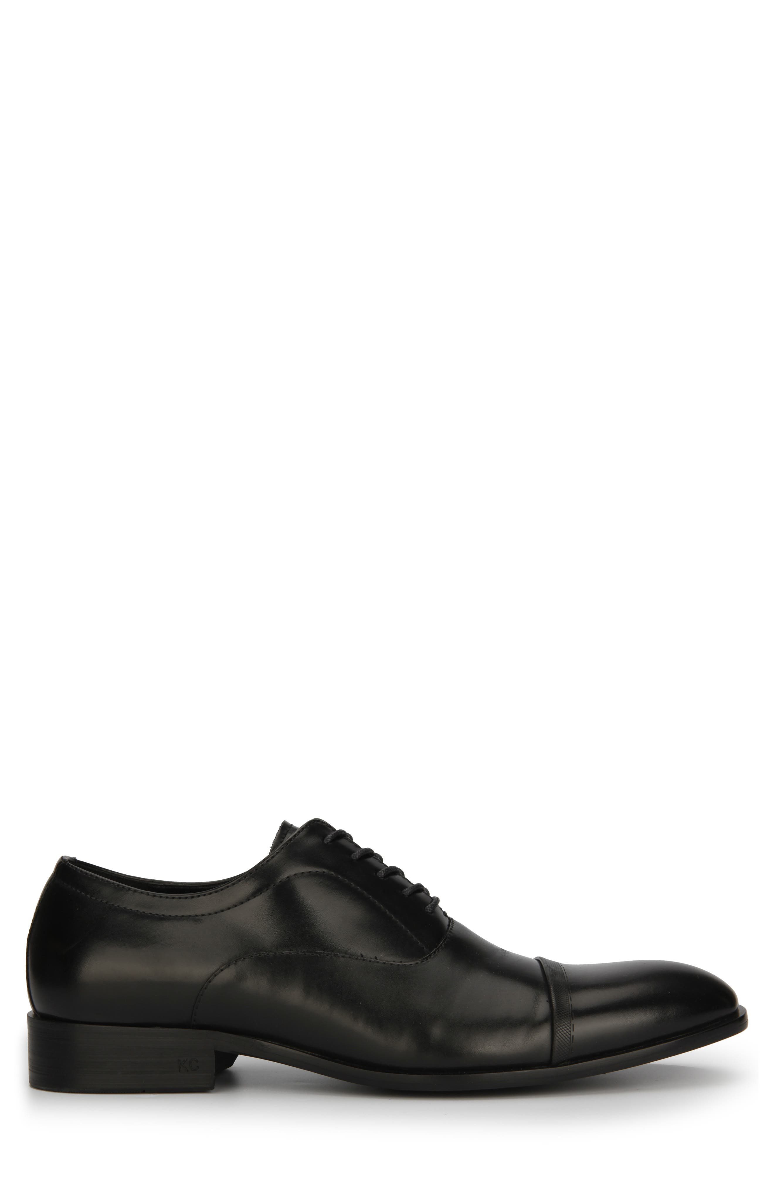 REACTION KENNETH COLE, Robson Cap Toe Oxford, Alternate thumbnail 2, color, BLACK