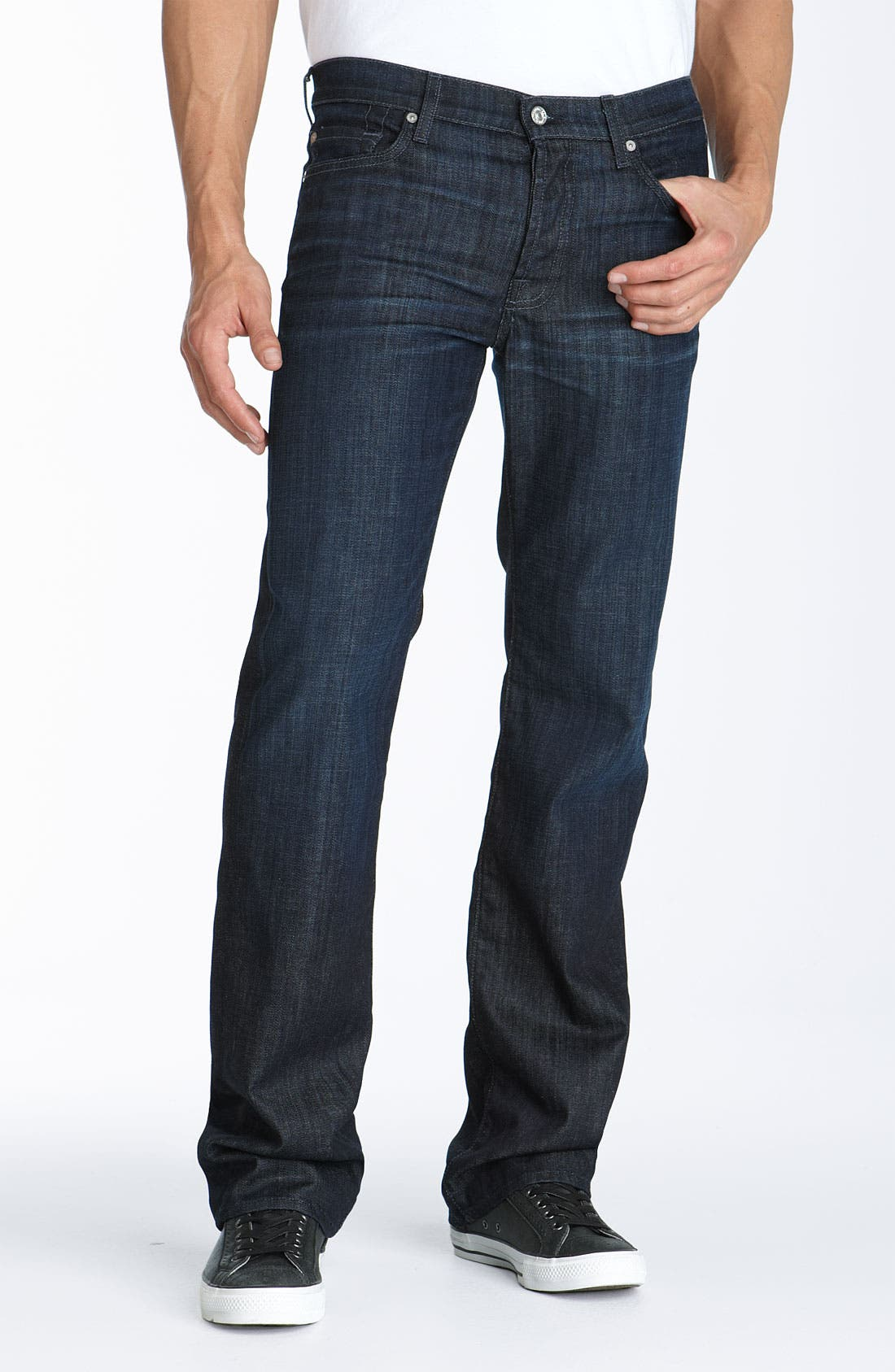 7 FOR ALL MANKIND<SUP>®</SUP>, 'Standard' Straight Leg Jeans, Alternate thumbnail 2, color, 484