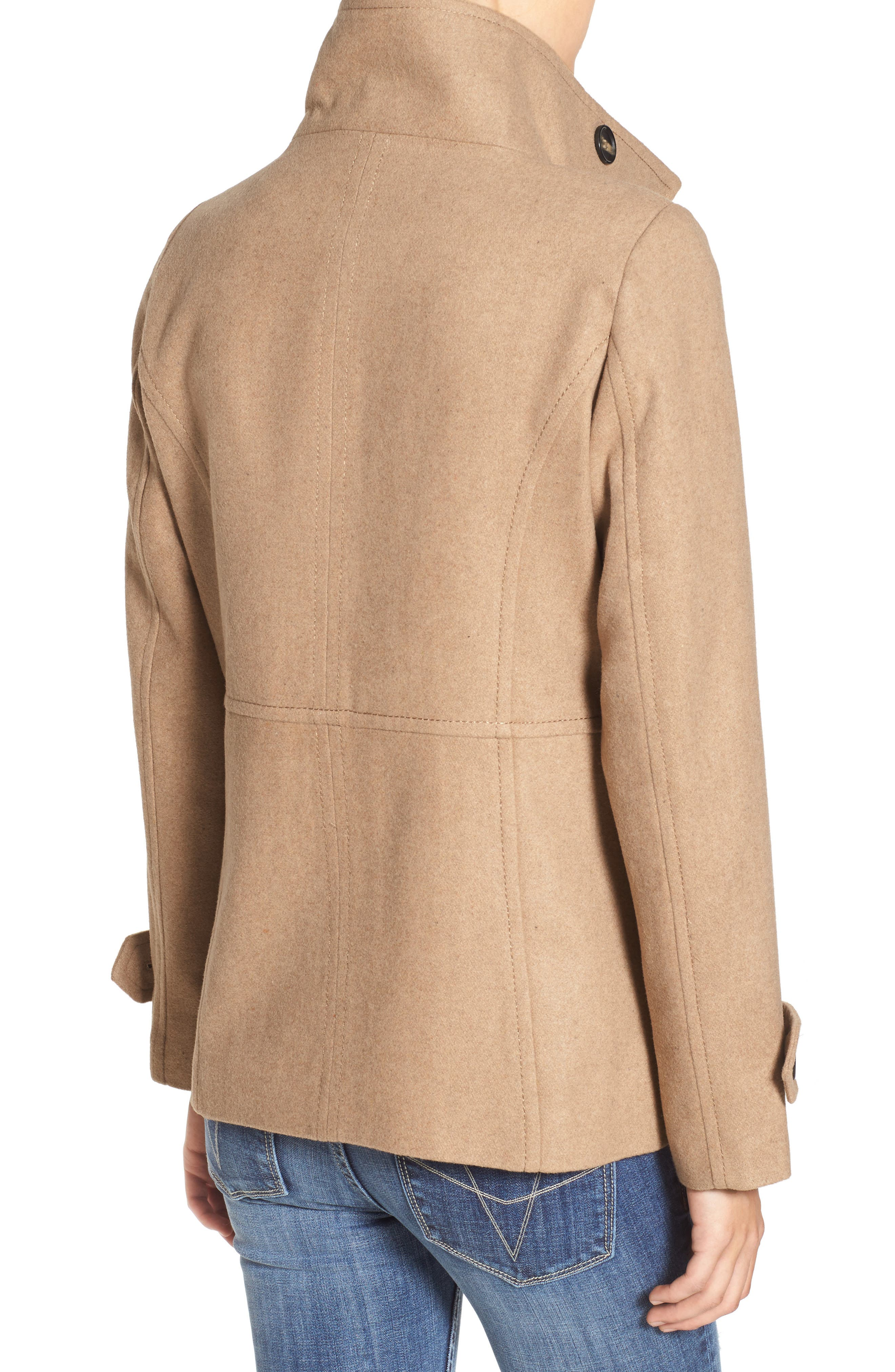 THREAD & SUPPLY, Double Breasted Peacoat, Alternate thumbnail 2, color, 200