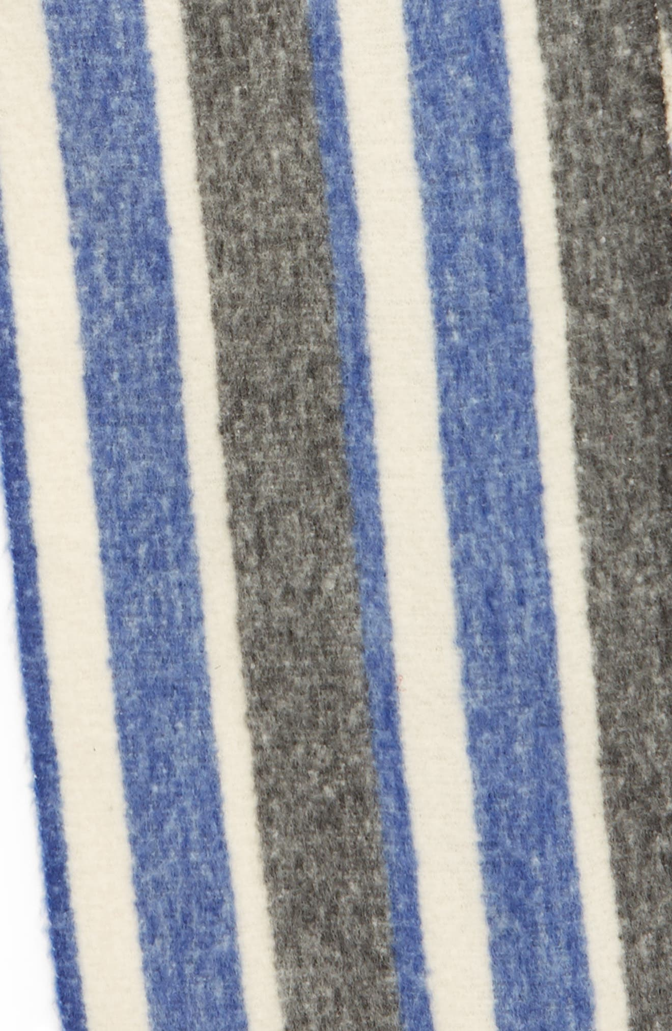 TREASURE & BOND, Striped Scarf, Alternate thumbnail 4, color, 400