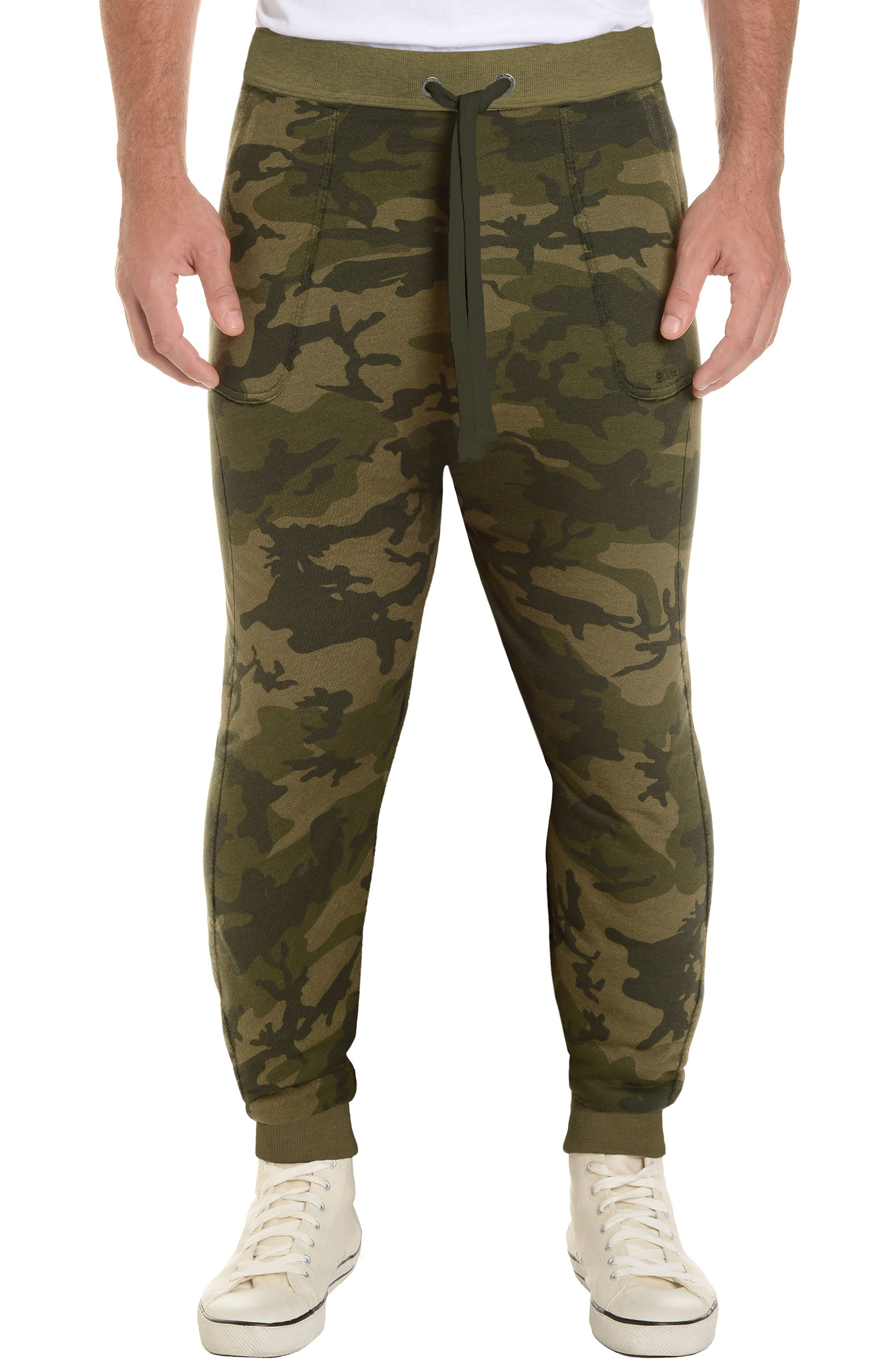 2(X)IST, Terry Jogger Sweatpants, Main thumbnail 1, color, OLIVE CAMO