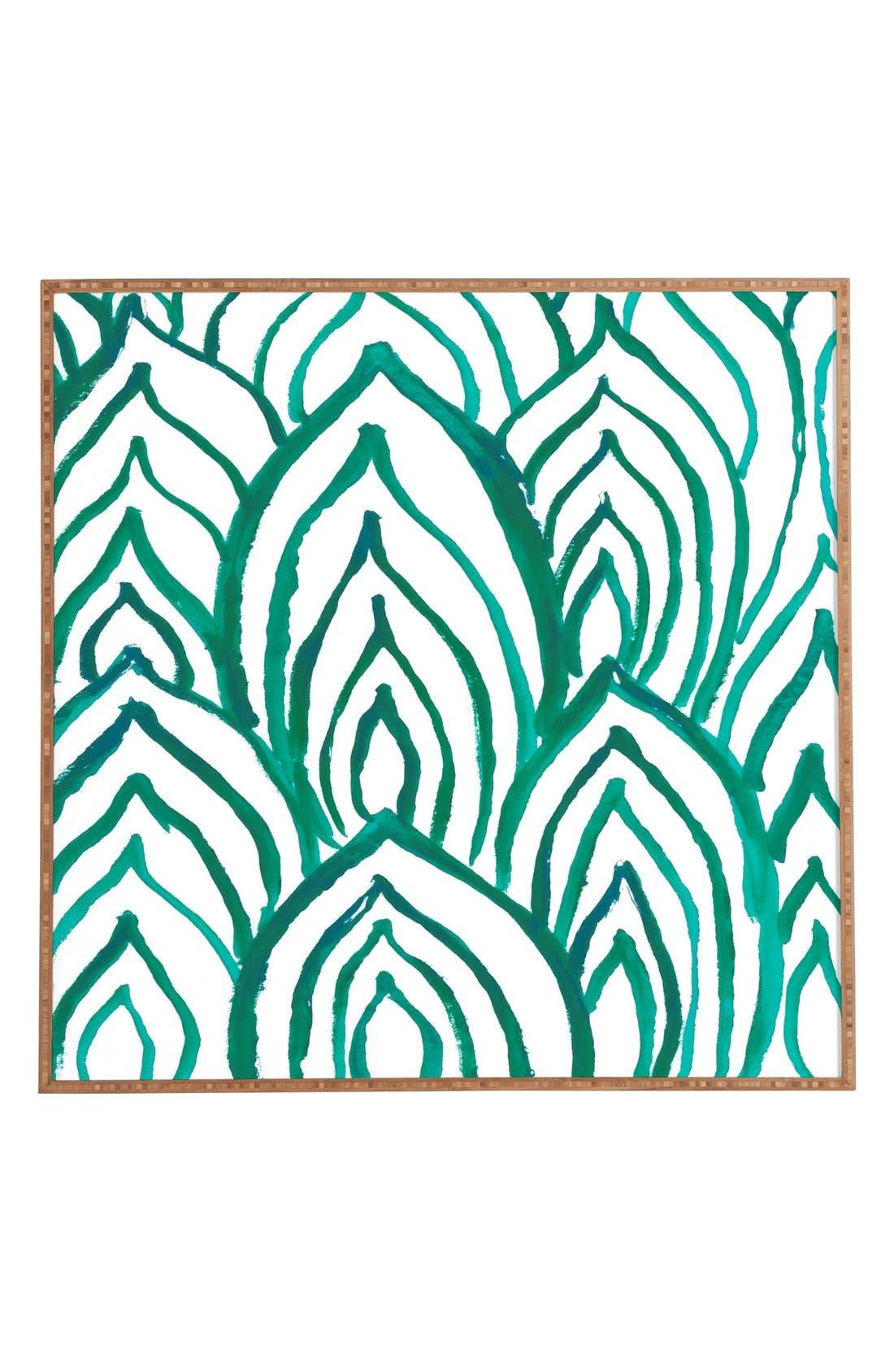 DENY DESIGNS 'Emerald Coast' Framed Wall Art, Main, color, 300