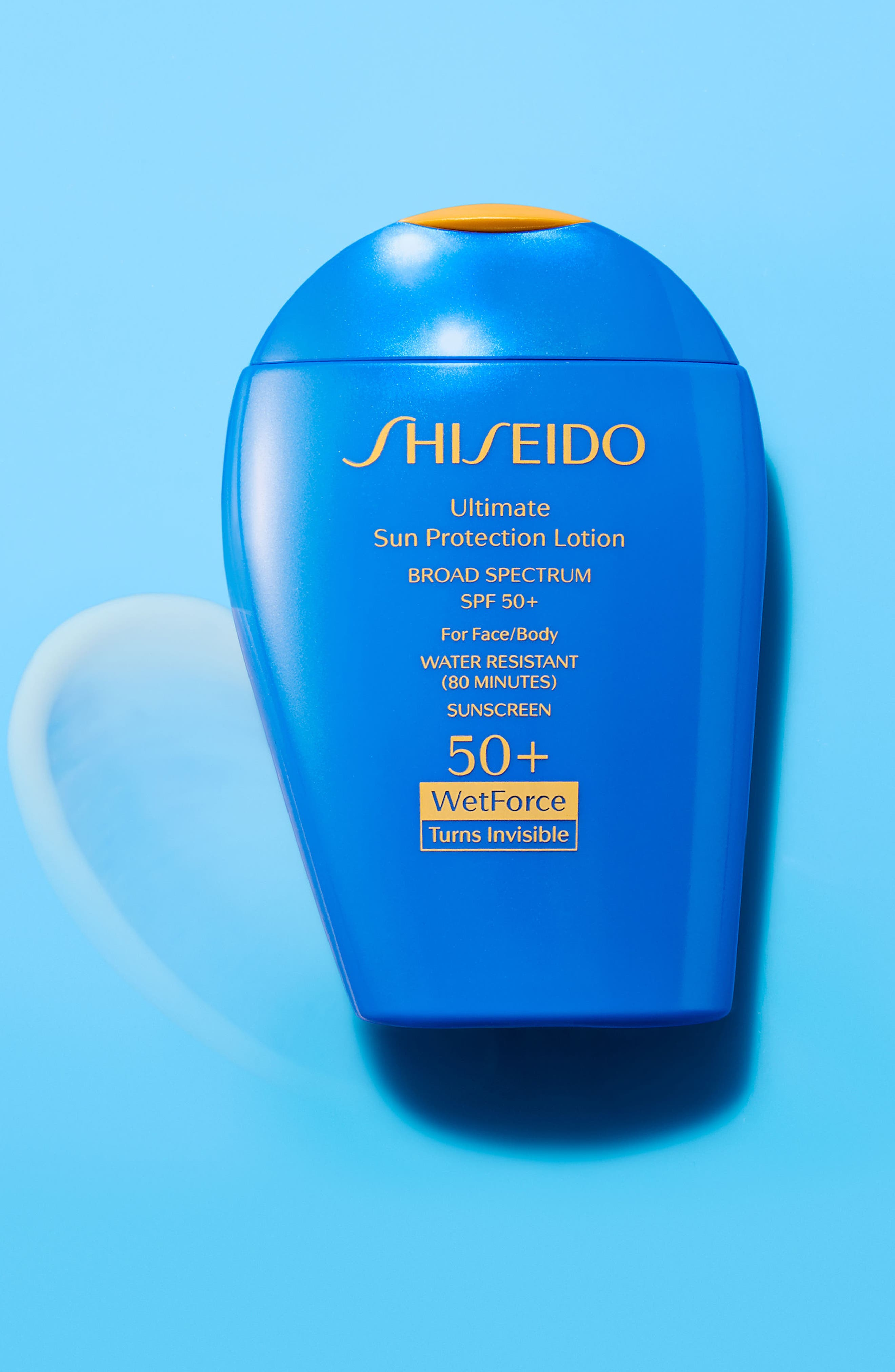SHISEIDO, WetForce Ultimate Sun Protection Lotion Broad Spectrum SPF 50+, Alternate thumbnail 4, color, NO COLOR