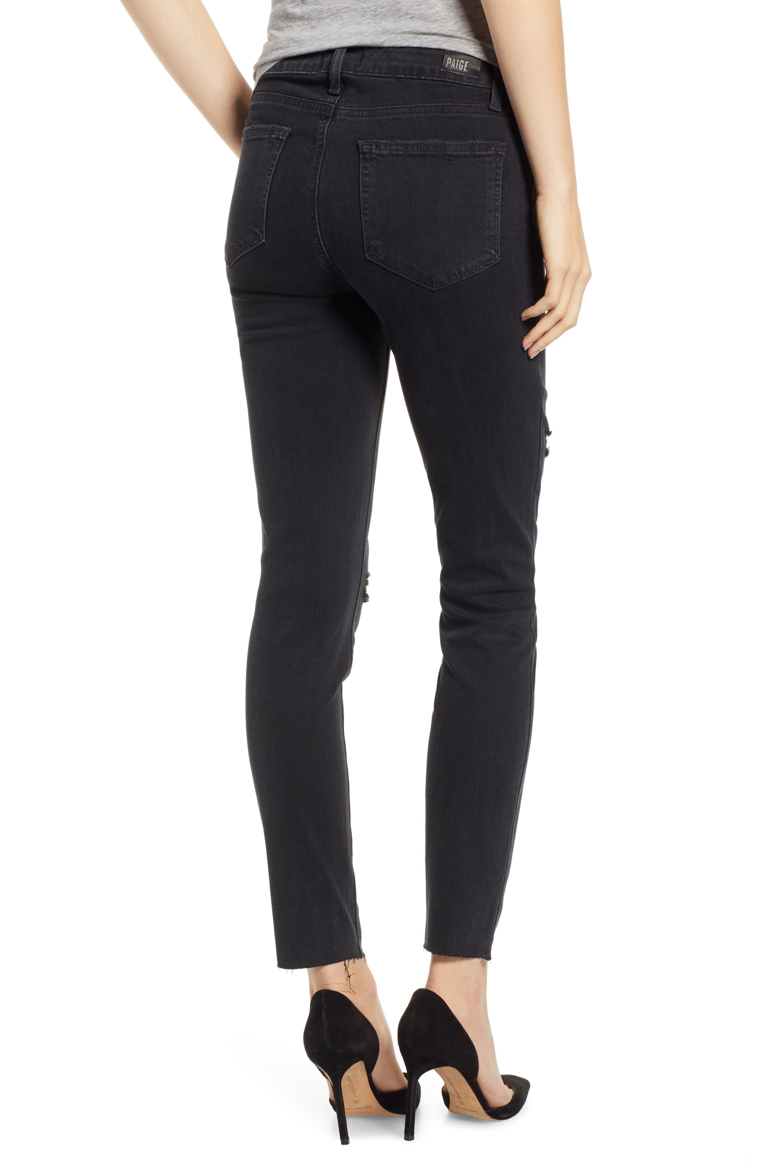 PAIGE, Transcend - Verdugo Ankle Skinny Jeans, Alternate thumbnail 2, color, 001