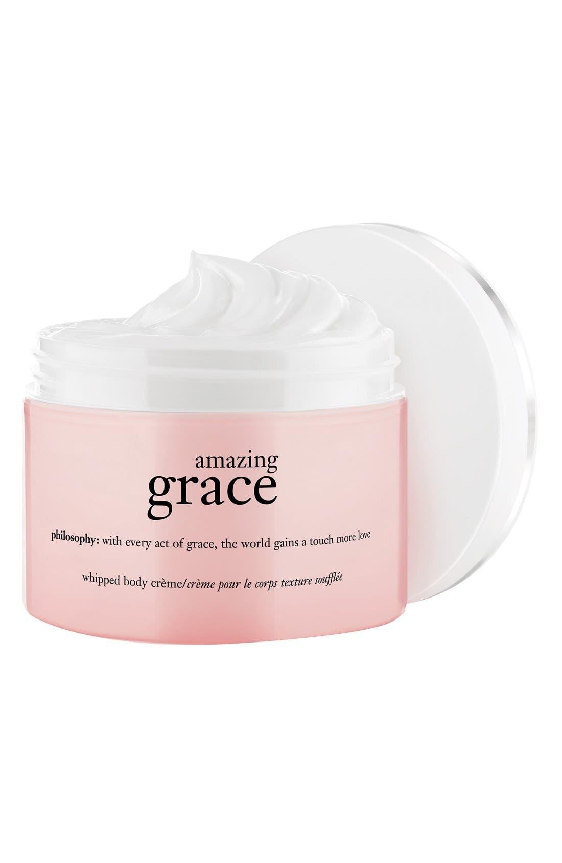 PHILOSOPHY, 'amazing grace' whipped body crème, Main thumbnail 1, color, NO COLOR