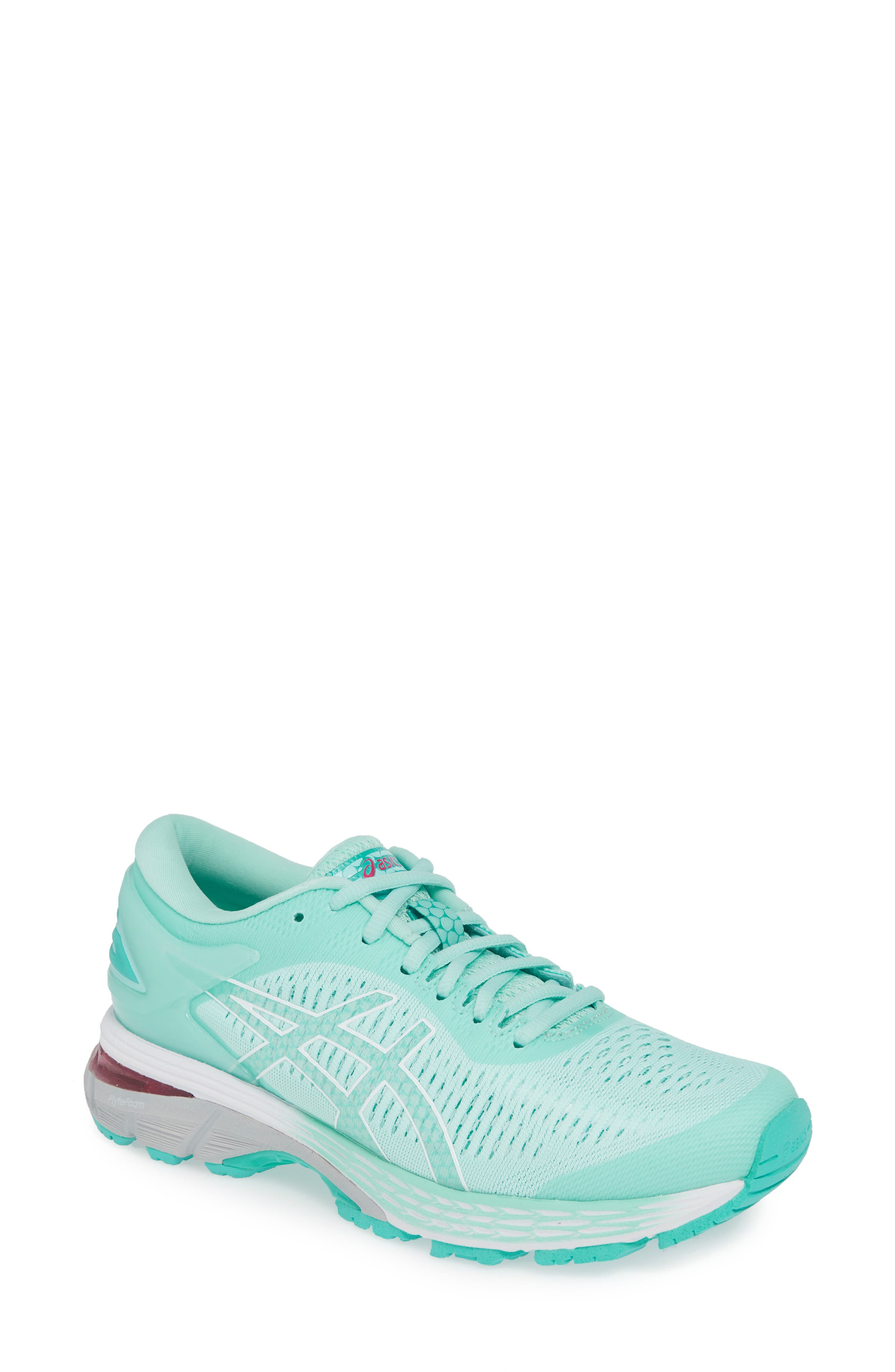 ASICS<SUP>®</SUP> GEL-Kayano<sup>®</sup> 25 Running Shoe, Main, color, ICY MORNING/ SEA GLASS