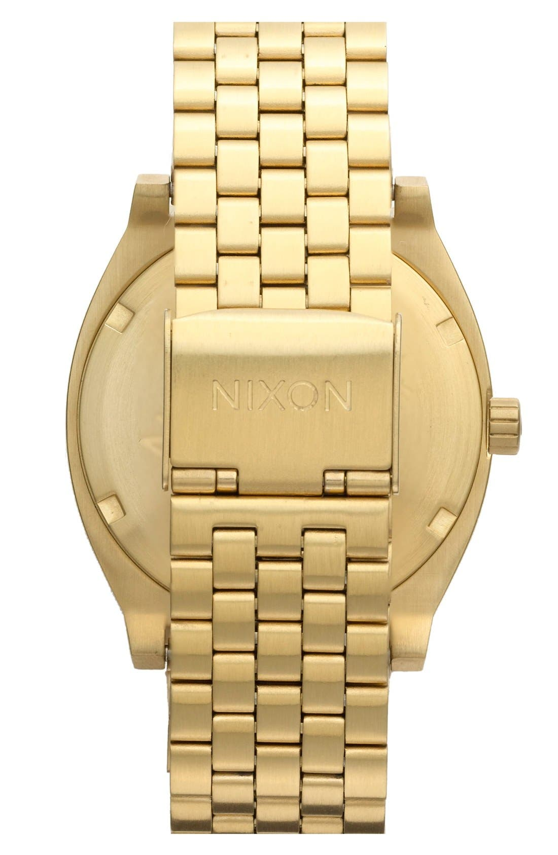 NIXON, 'The Time Teller' Watch, 37mm, Alternate thumbnail 3, color, GOLD