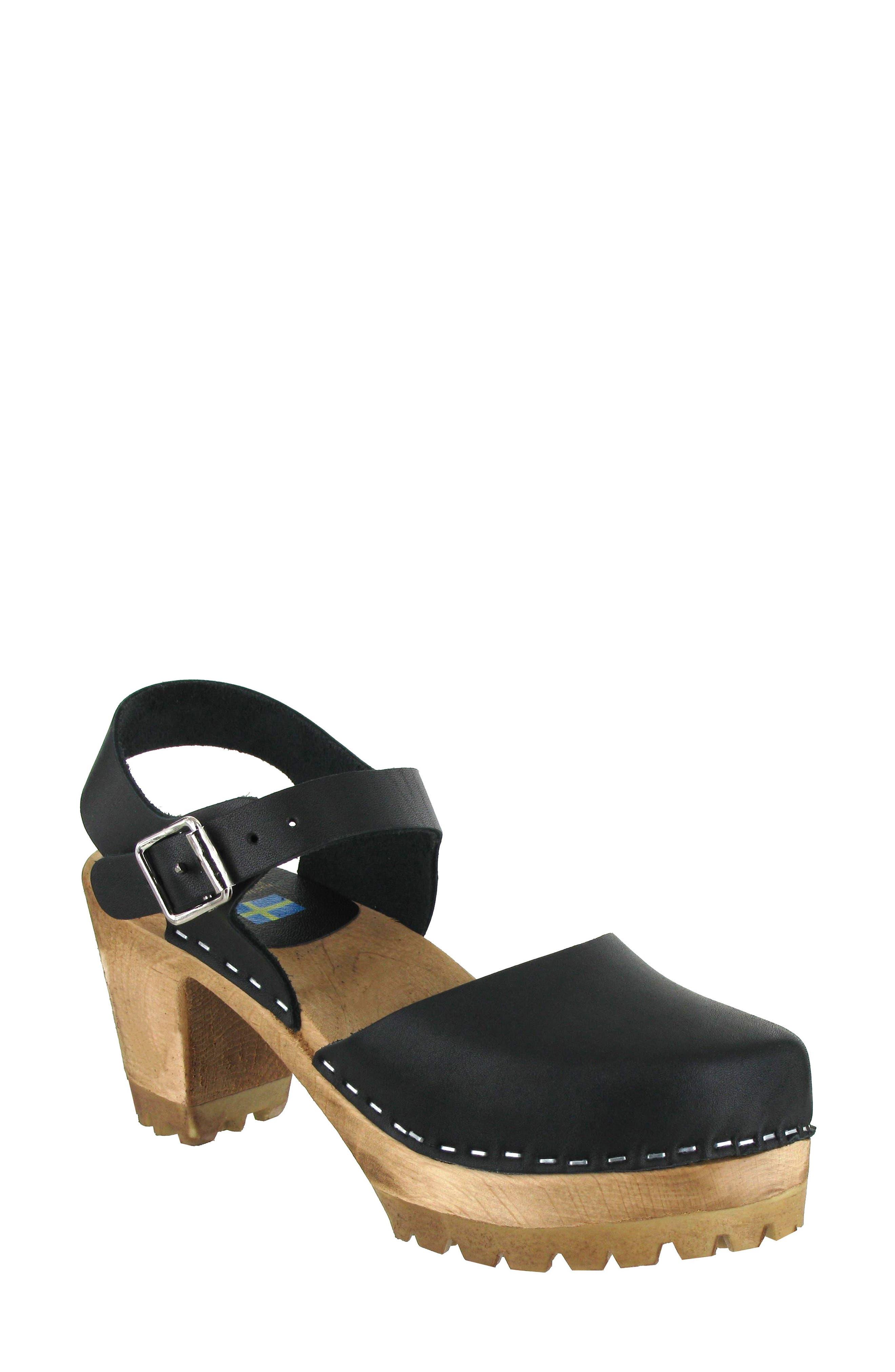 MIA Abba Sandal, Main, color, BLACK LEATHER