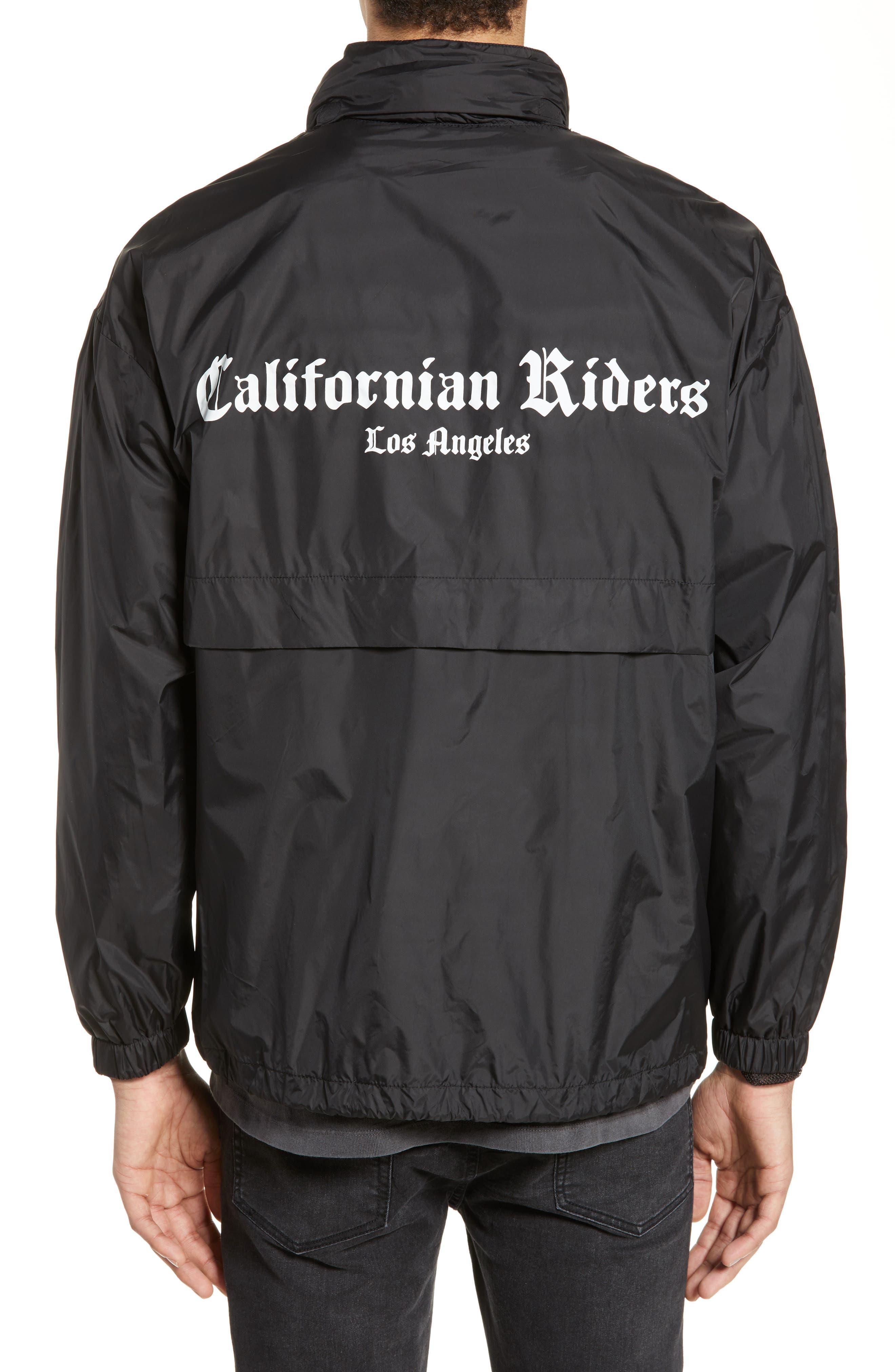 THE KOOPLES, Californian Riders Print Jacket, Alternate thumbnail 2, color, 001