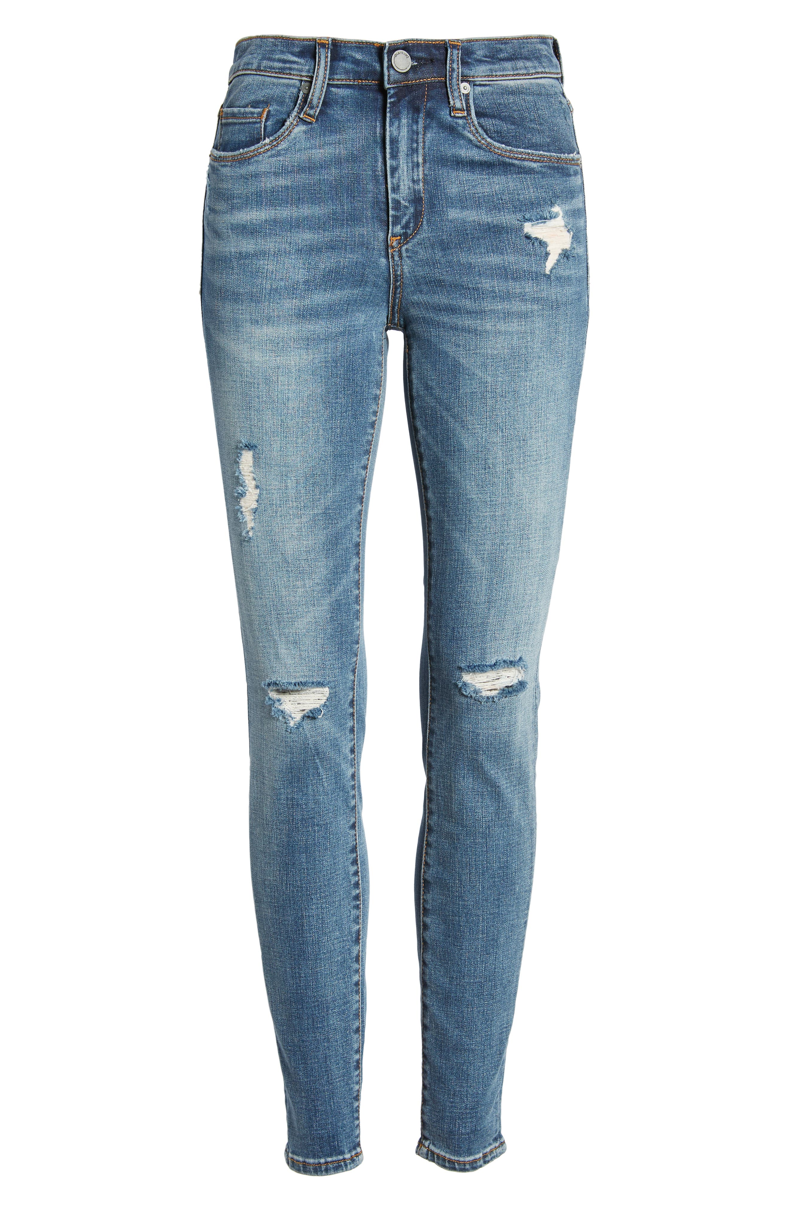 BLANKNYC, The Bond Ripped Skinny Jeans, Alternate thumbnail 4, color, JERSEY GIRLS