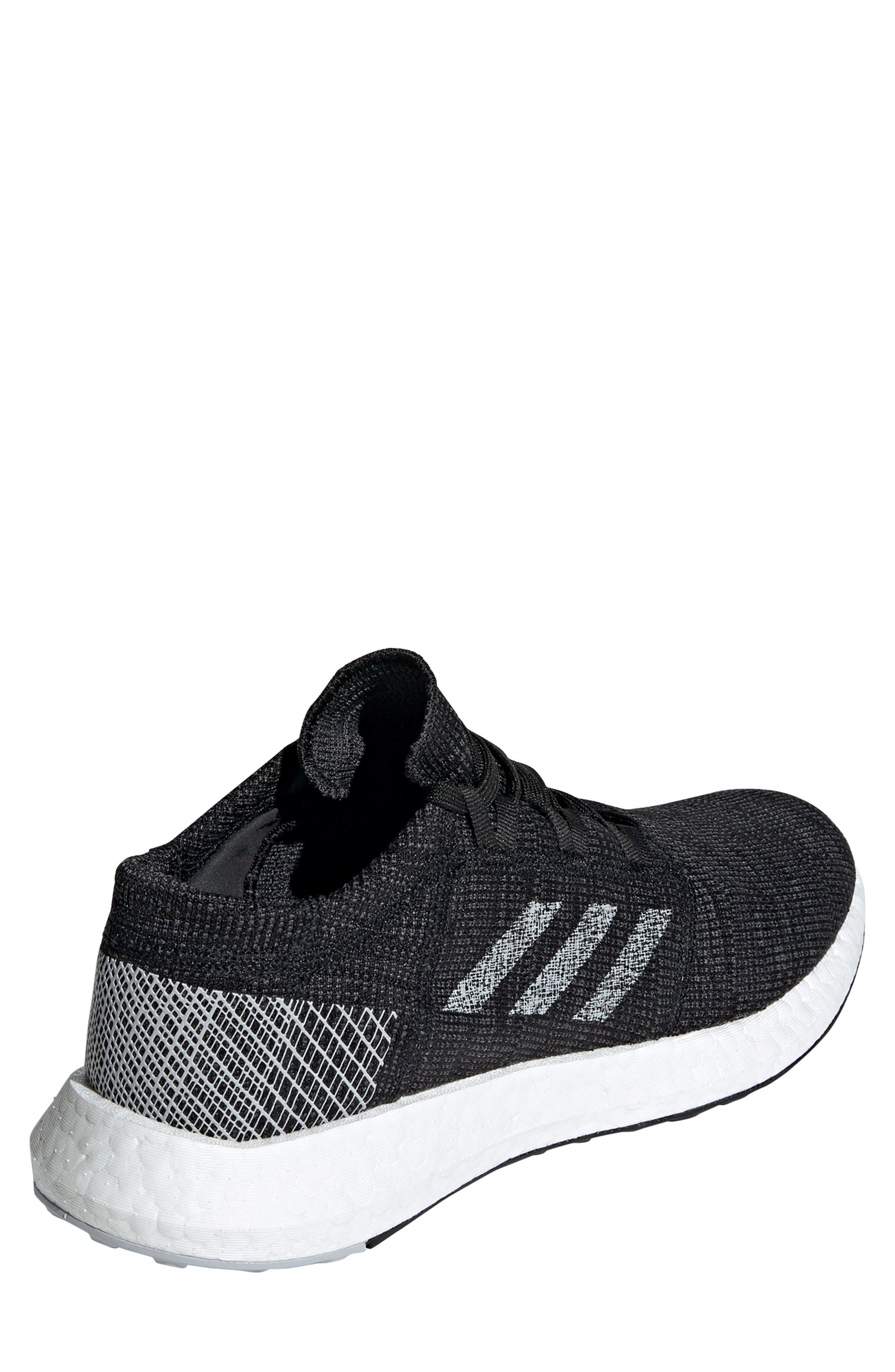 ADIDAS, PureBoost Go Running Shoe, Alternate thumbnail 2, color, CORE BLACK/ GREY