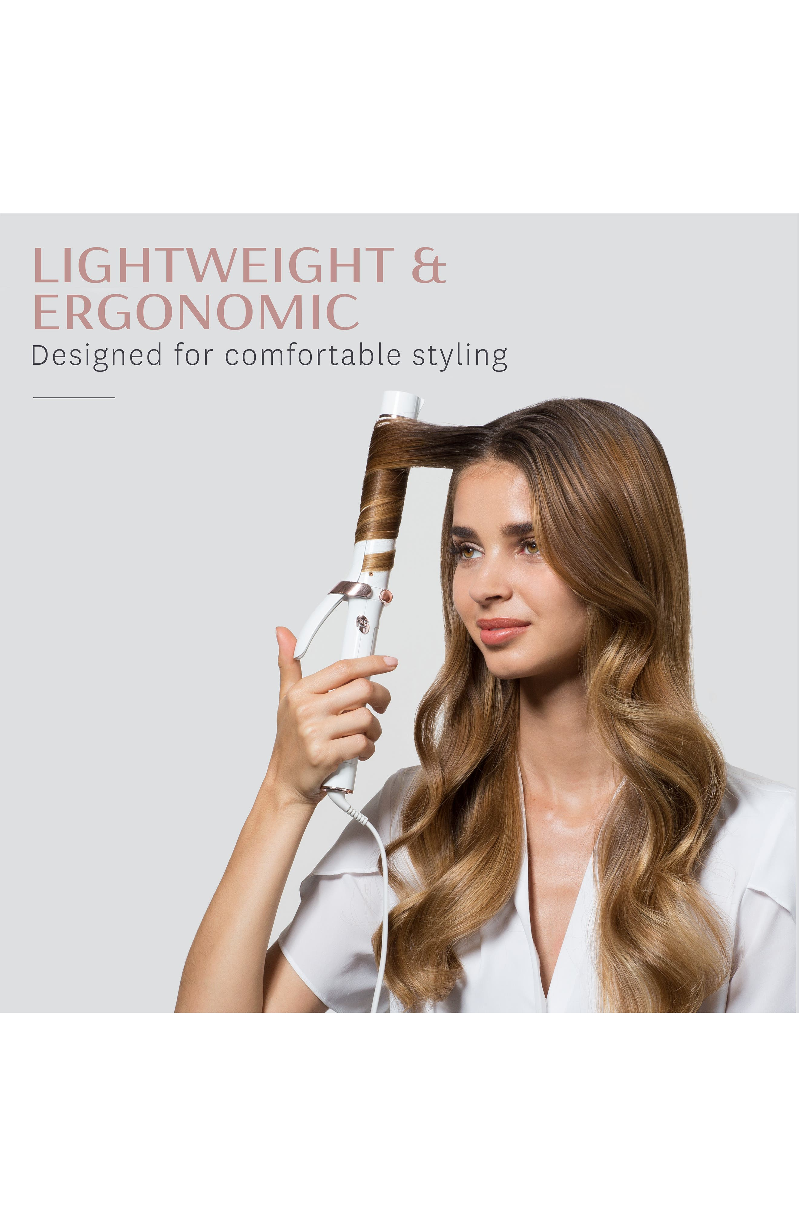 T3, SinglePass<sup>®</sup> Curl 1.25-Inch Professional Ceramic Curling Iron, Alternate thumbnail 4, color, NO COLOR