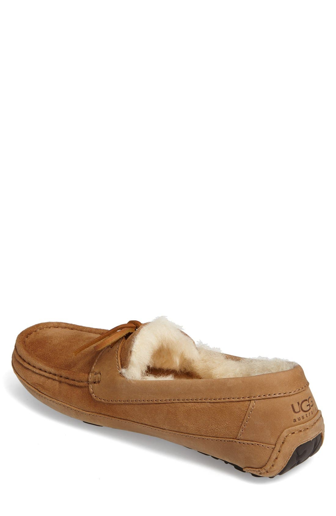 UGG<SUP>®</SUP>, 'Byron' Slipper, Alternate thumbnail 8, color, CHESTNUT