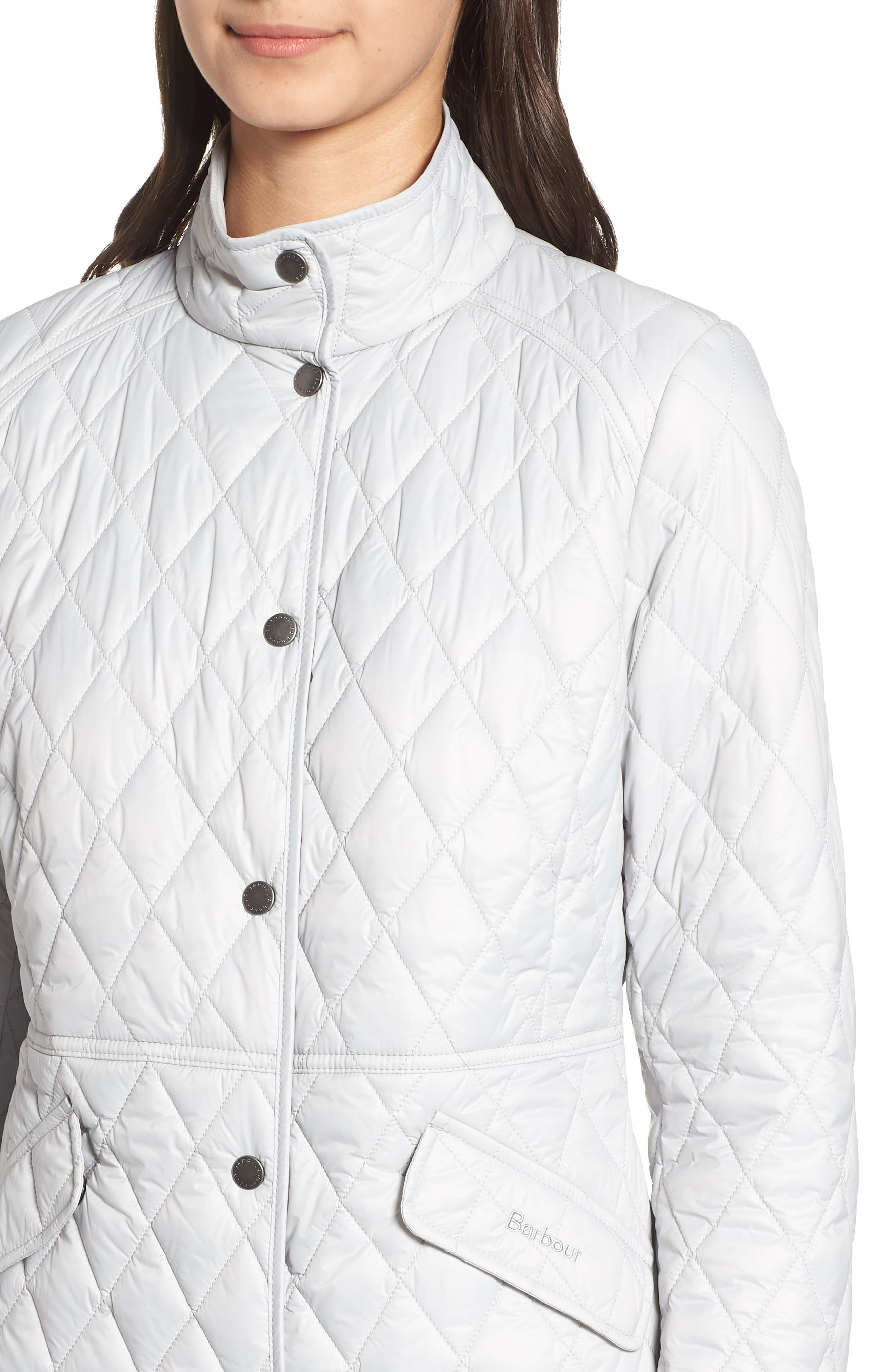 BARBOUR, Annis Quilted Jacket, Alternate thumbnail 5, color, 100