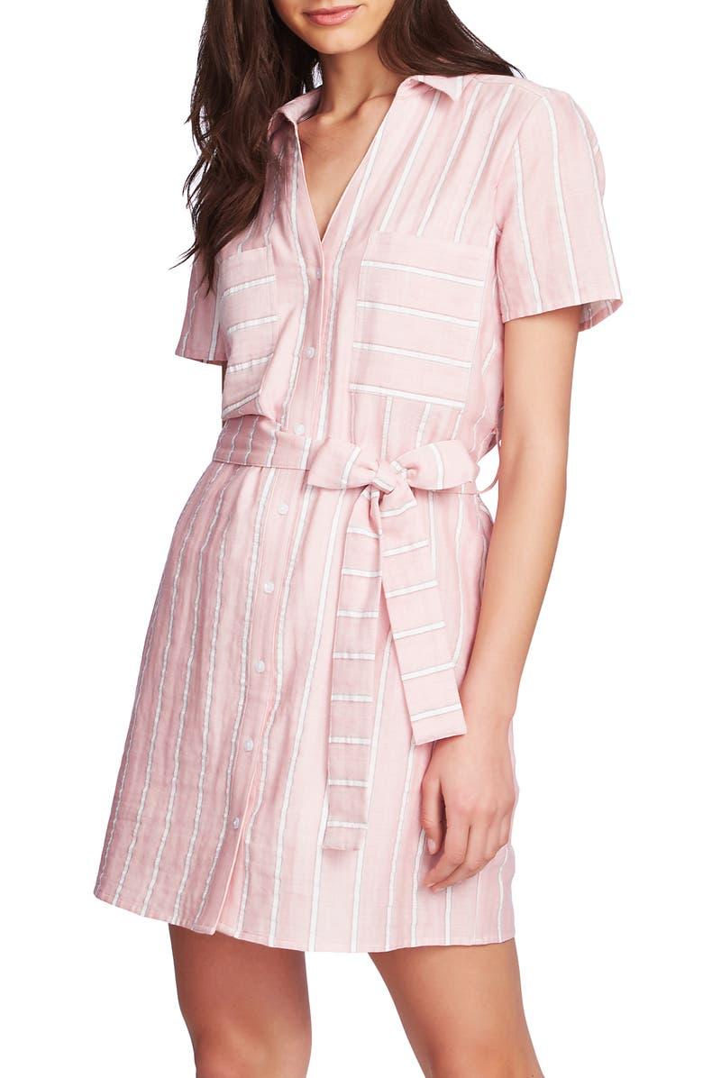 1.state Dresses SUNWASHED STRIPE PATCH POCKET SHIRTDRESS