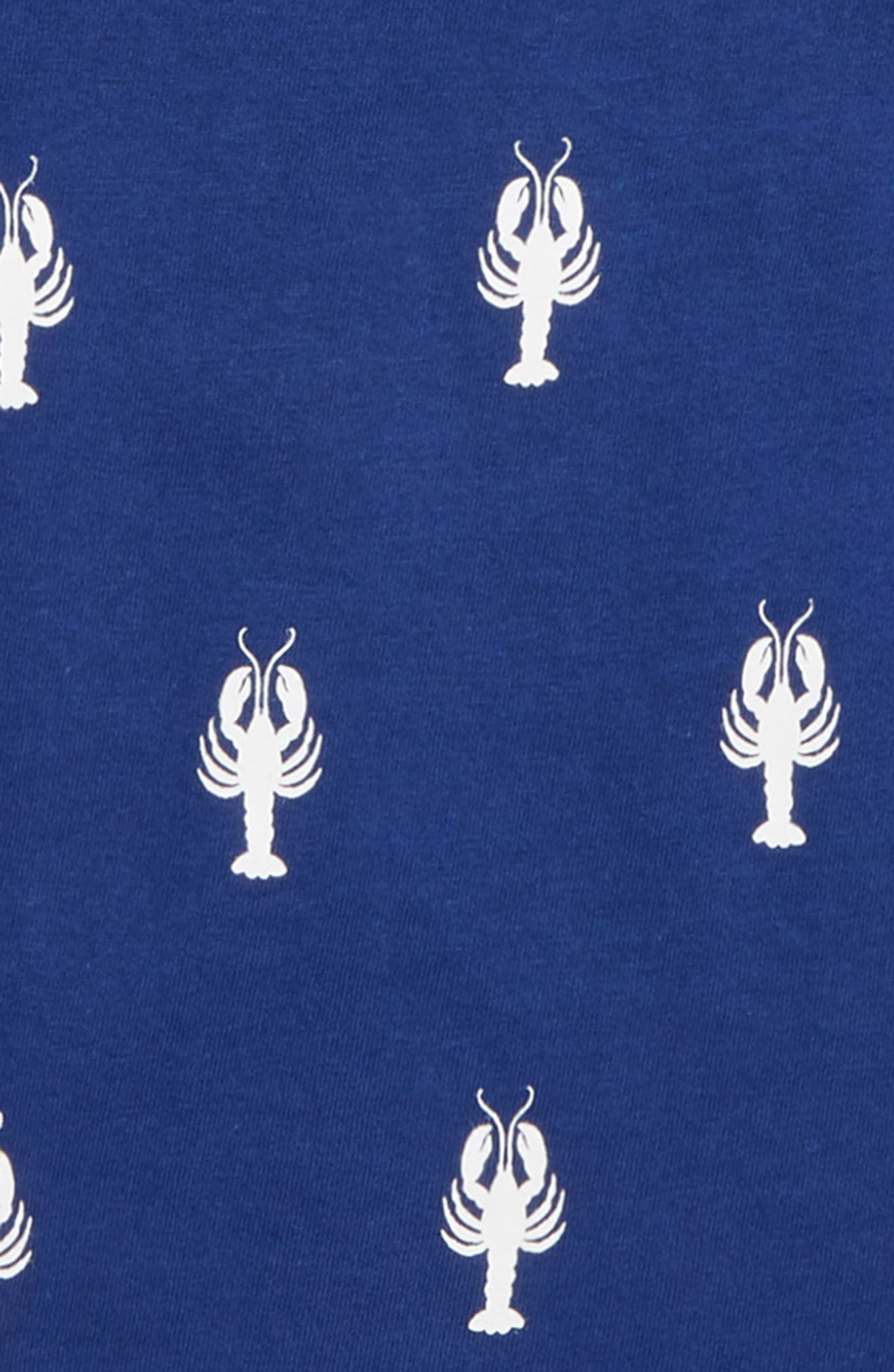 HATLEY, Lobster Graphic T-Shirt, Alternate thumbnail 2, color, BLUE