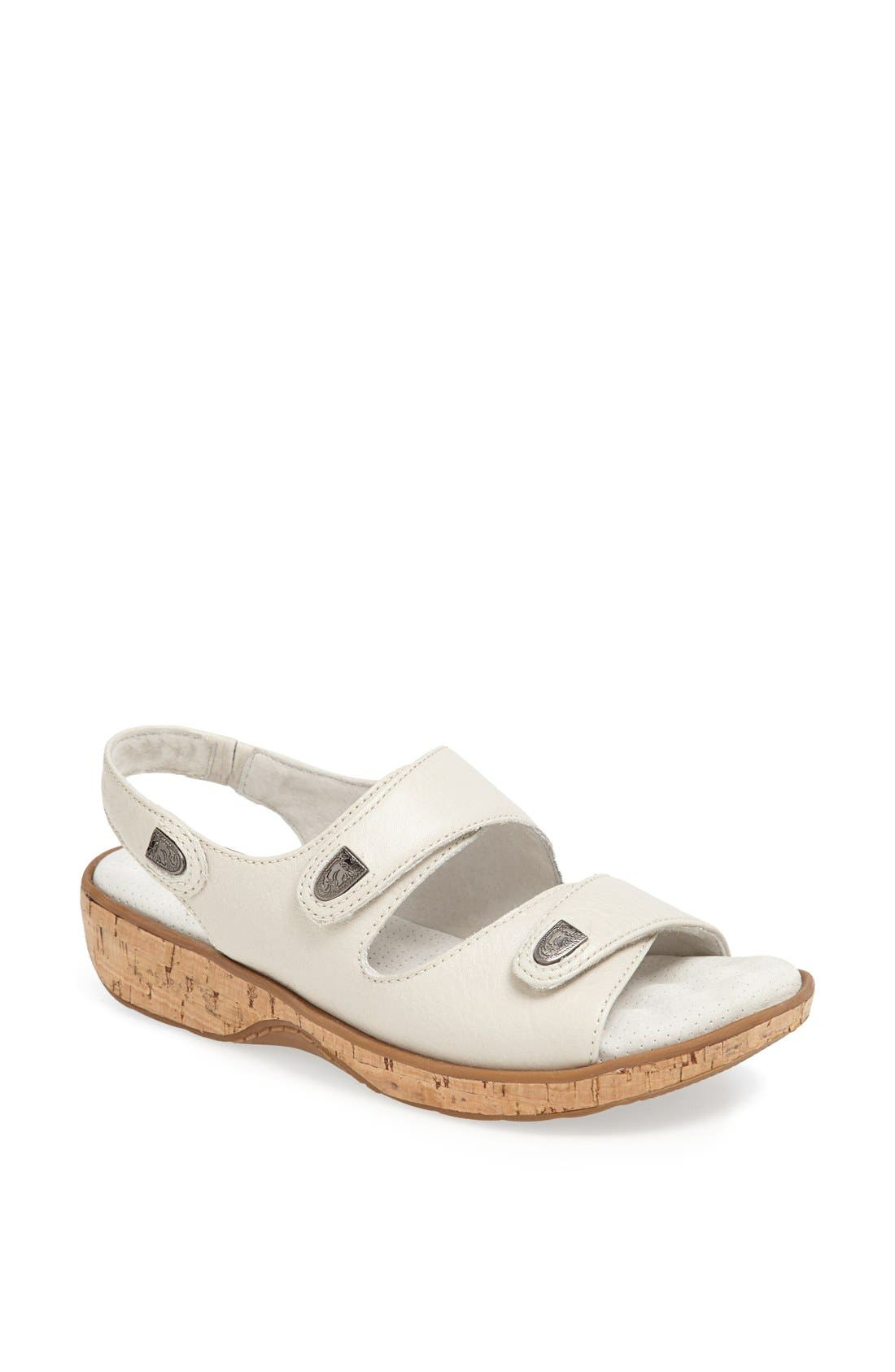 SOFTWALK<SUP>®</SUP>, 'Bolivia' Sandal, Main thumbnail 1, color, OFF WHITE