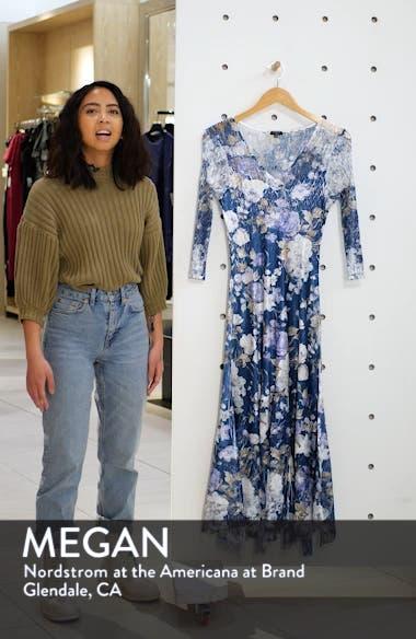 Floral Charmeuse & Chiffon Dress, sales video thumbnail