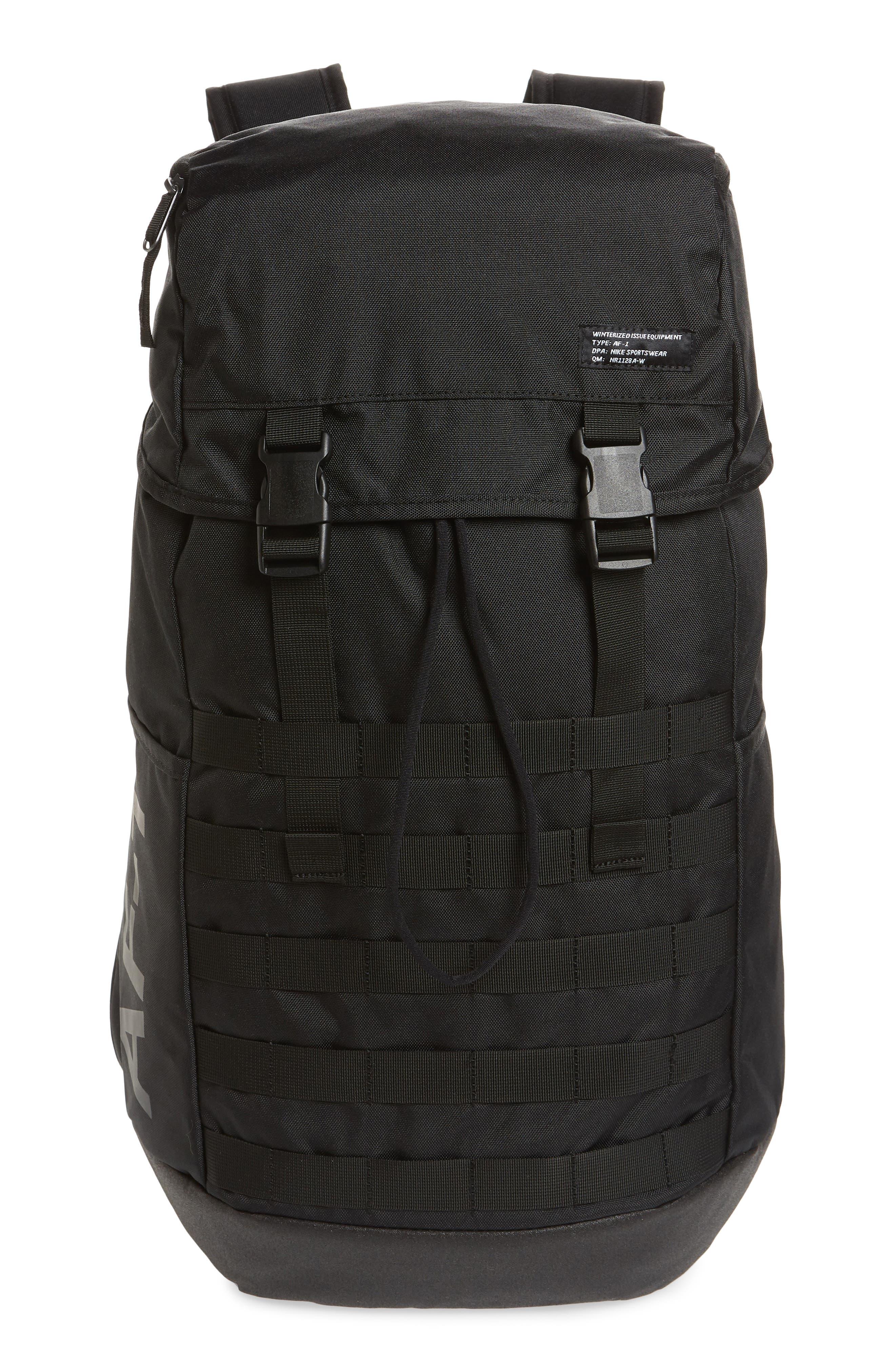 NIKE, AF-1 Backpack, Main thumbnail 1, color, 001