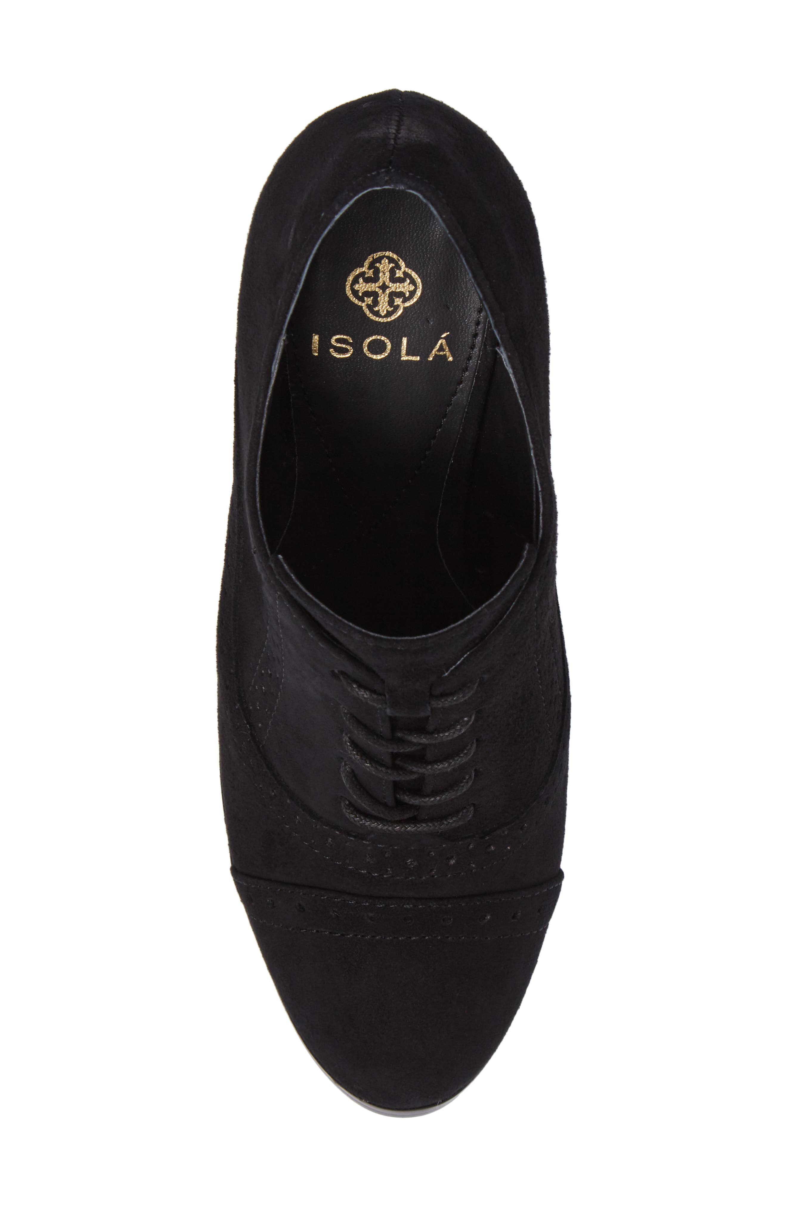 ISOLÁ, Holli Oxford Pump, Alternate thumbnail 5, color, BLACK SUEDE