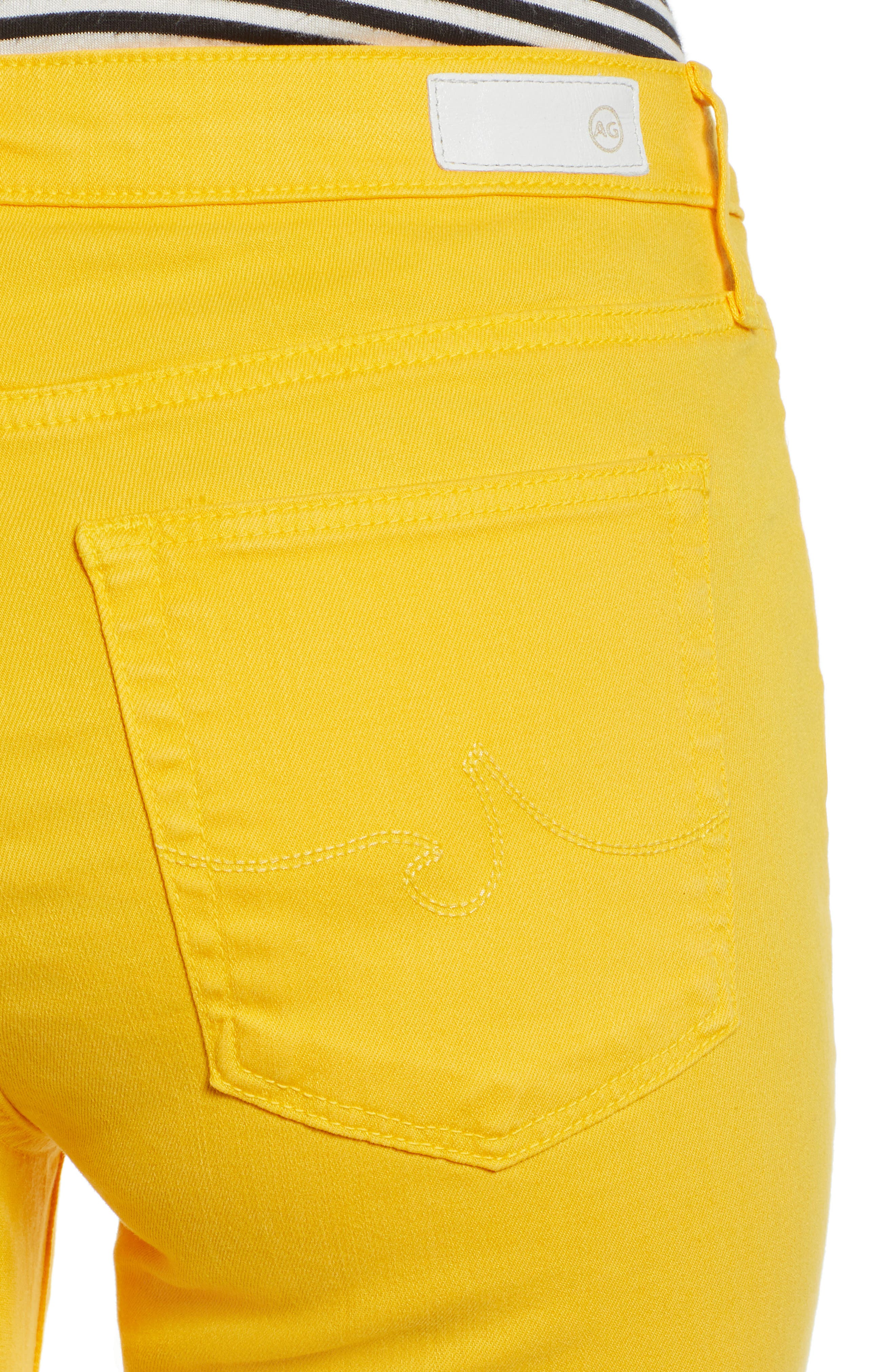 AG, Jodi High Waist Crop Jeans, Alternate thumbnail 5, color, GOLDEN OCHRE