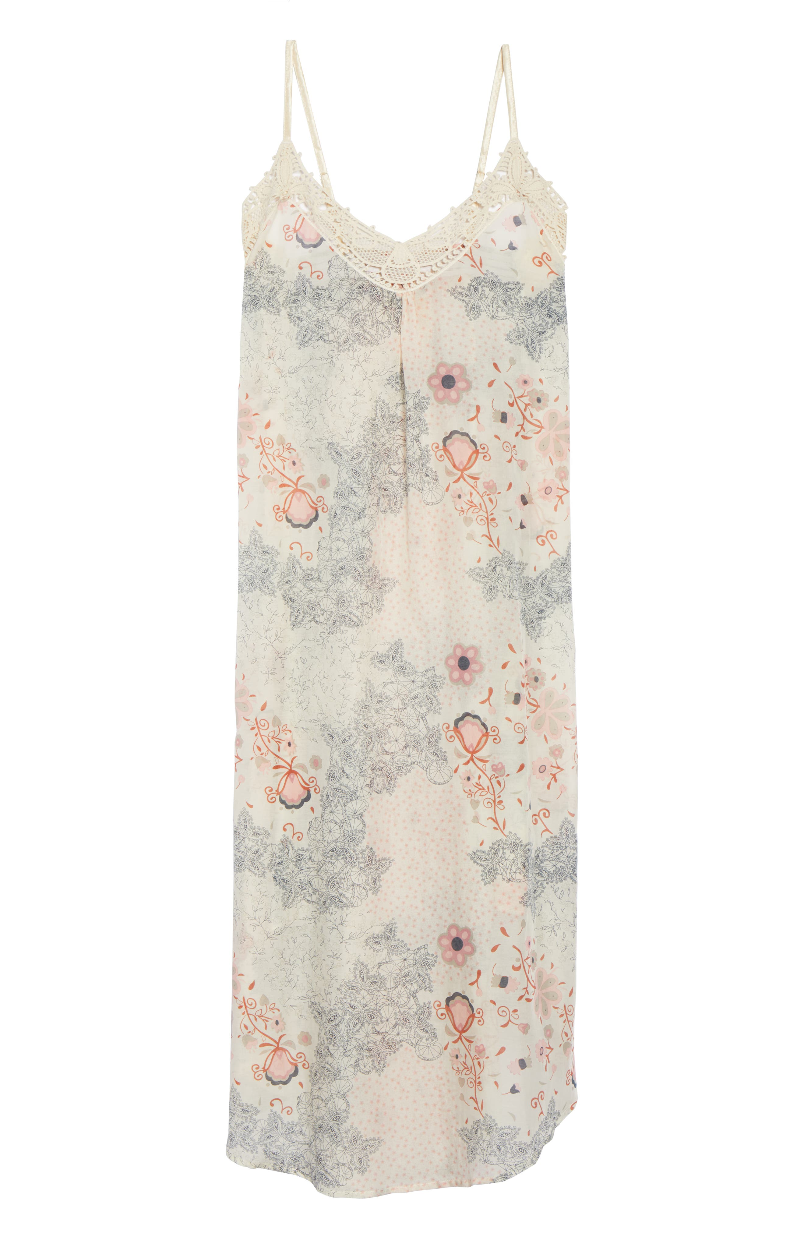 PAPINELLE, Arabella Nightgown, Alternate thumbnail 6, color, PINK MULTI