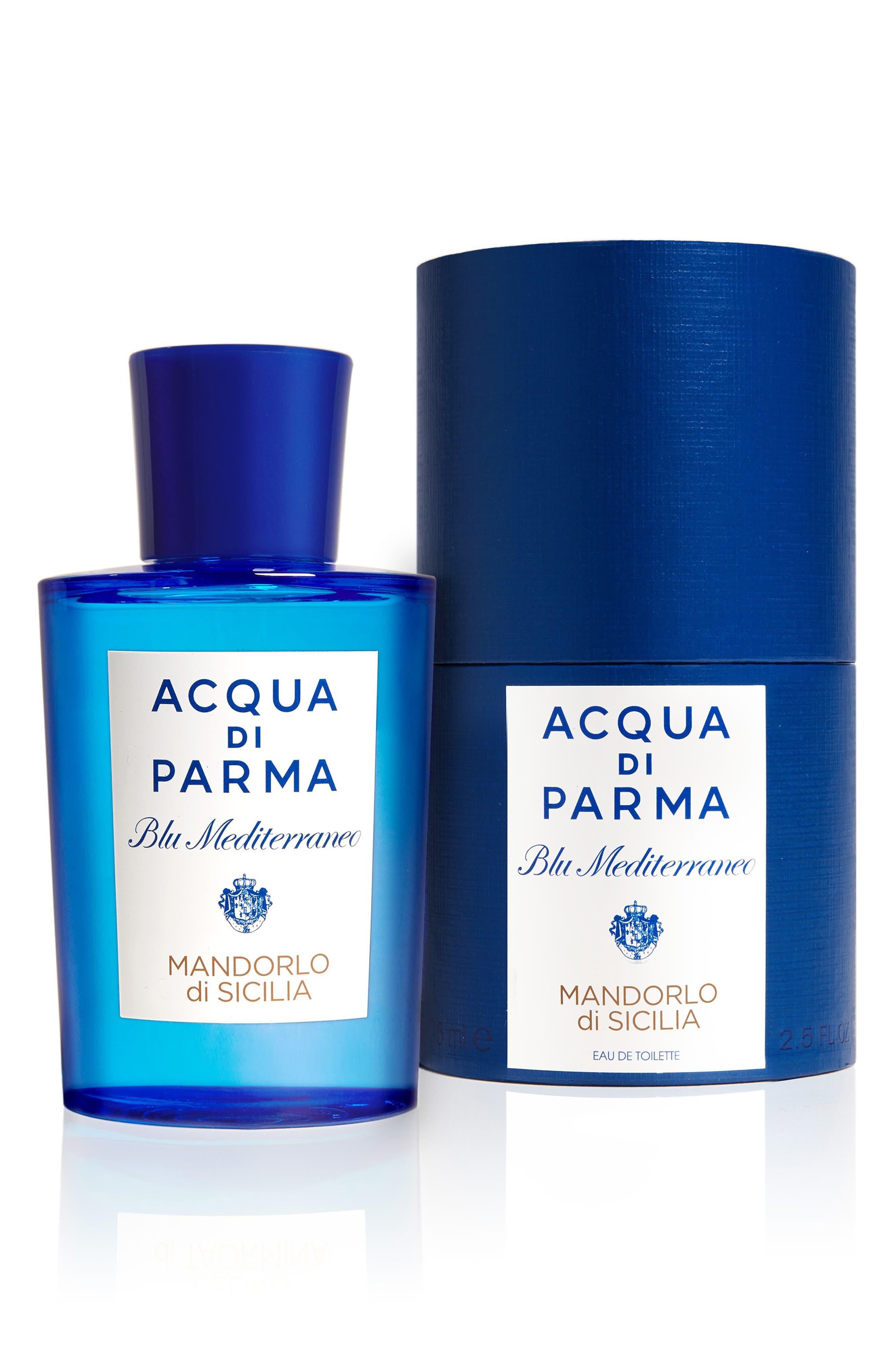 ACQUA DI PARMA, 'Blu Mediterraneo' Mandorlo di Sicilia Eau de Toilette Spray, Alternate thumbnail 2, color, NO COLOR