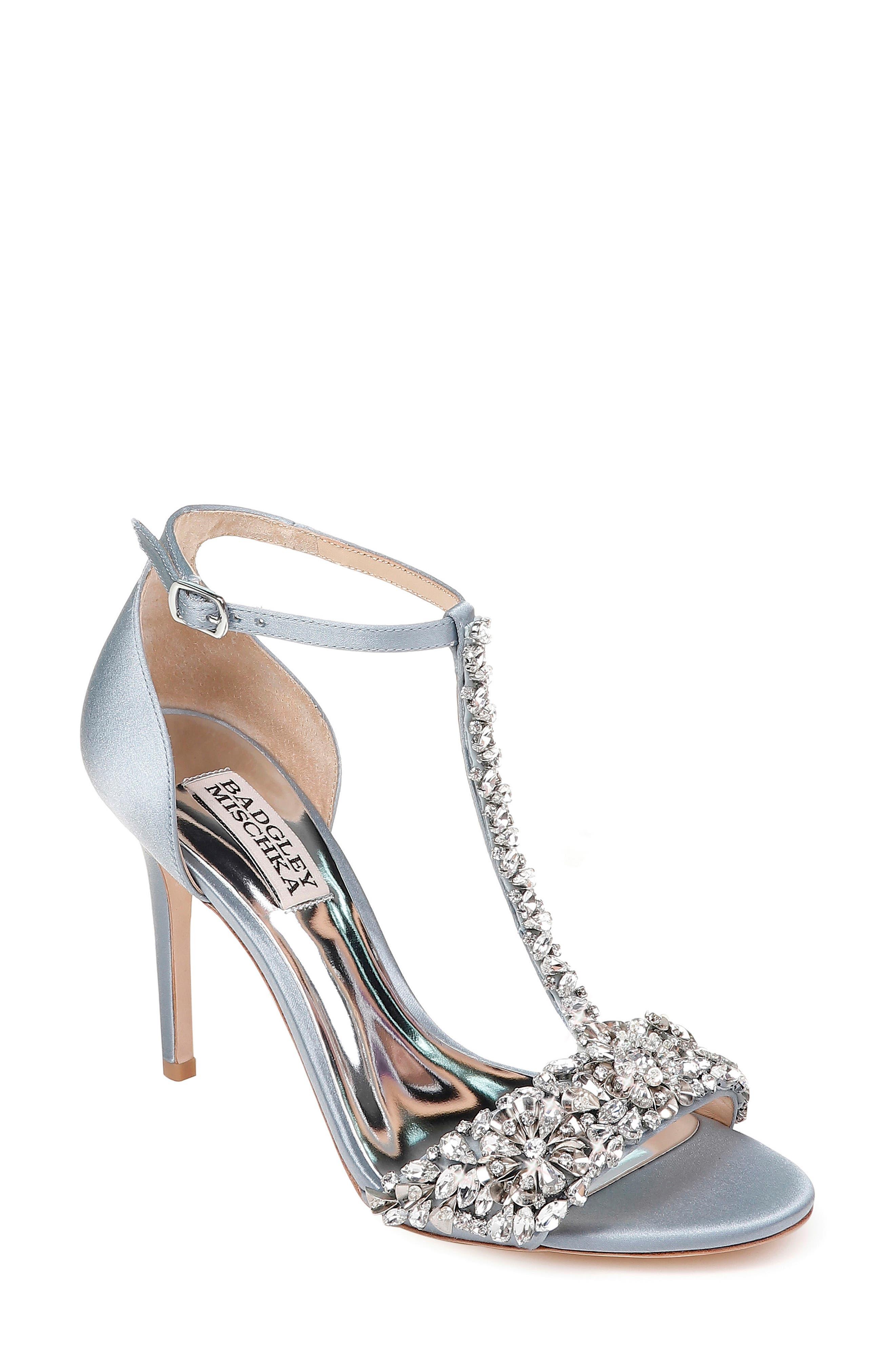 Badgley Mischka Crystal Embellished Sandal- Blue