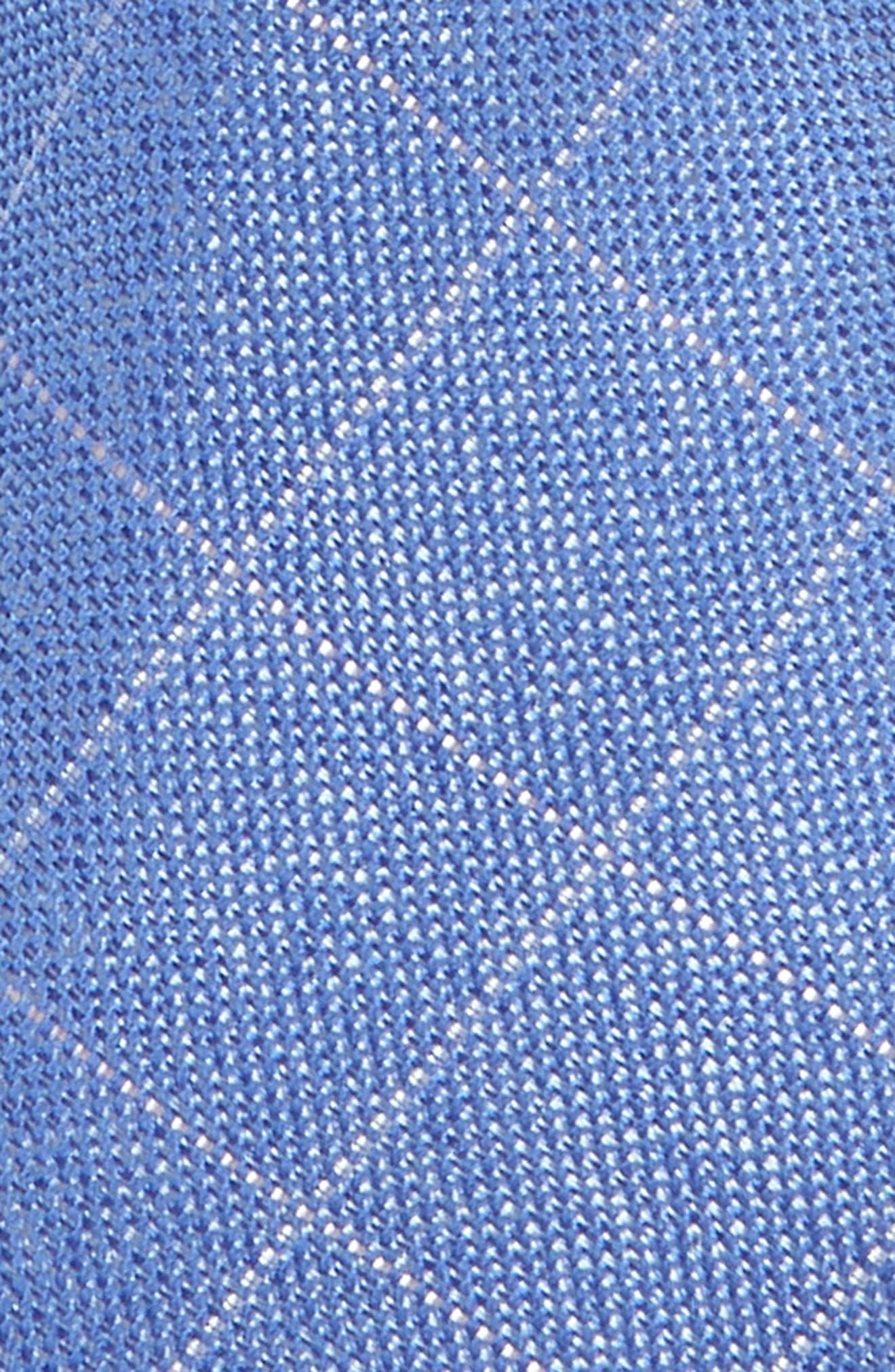 NORDSTROM, Isaiah Grid Silk Tie, Alternate thumbnail 2, color, BLUE