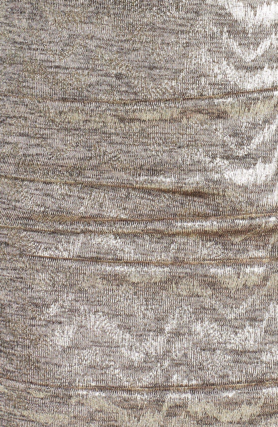 VINCE CAMUTO, Metallic Jersey Body-Con Dress, Alternate thumbnail 5, color, 710