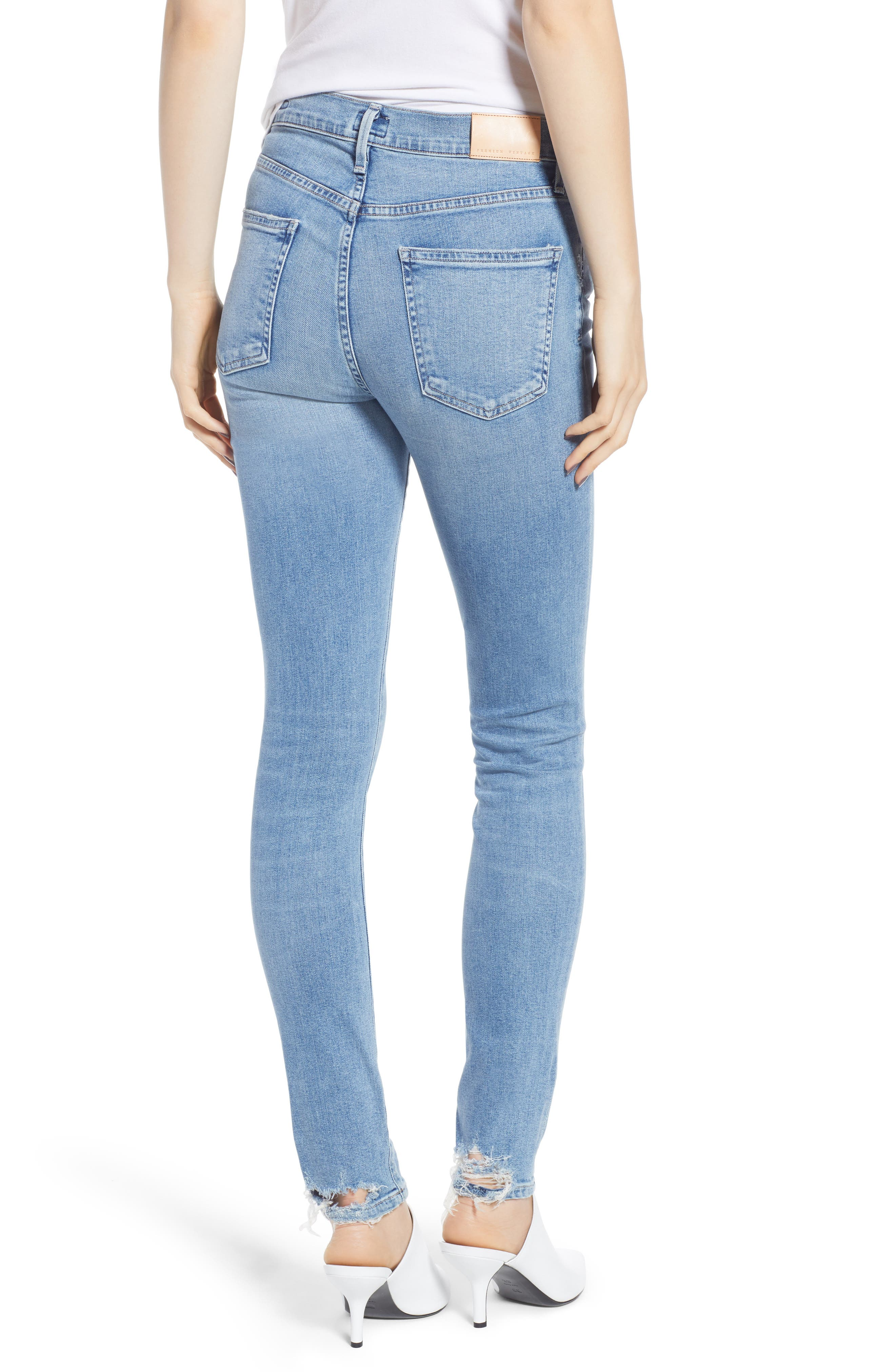 CITIZENS OF HUMANITY, Rocket High Waist Skinny Jeans, Alternate thumbnail 2, color, SMALL TALK