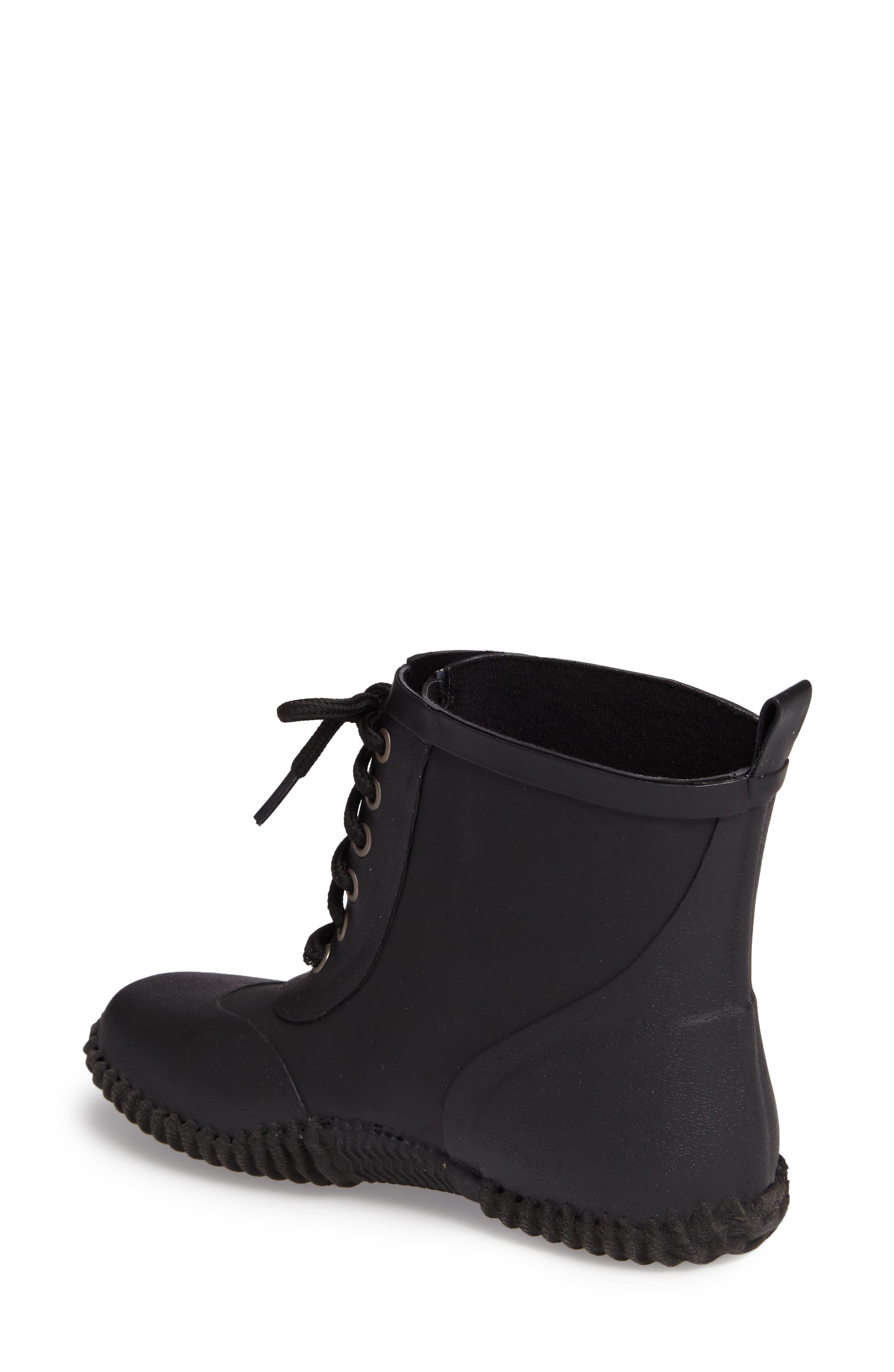 DÄV, Telluride Waterproof Rain Boot, Alternate thumbnail 2, color, BLACK
