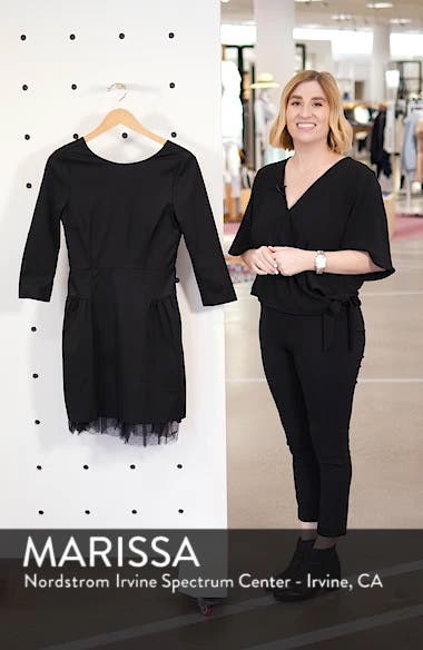 Tulle Hem Sheath Dress, sales video thumbnail
