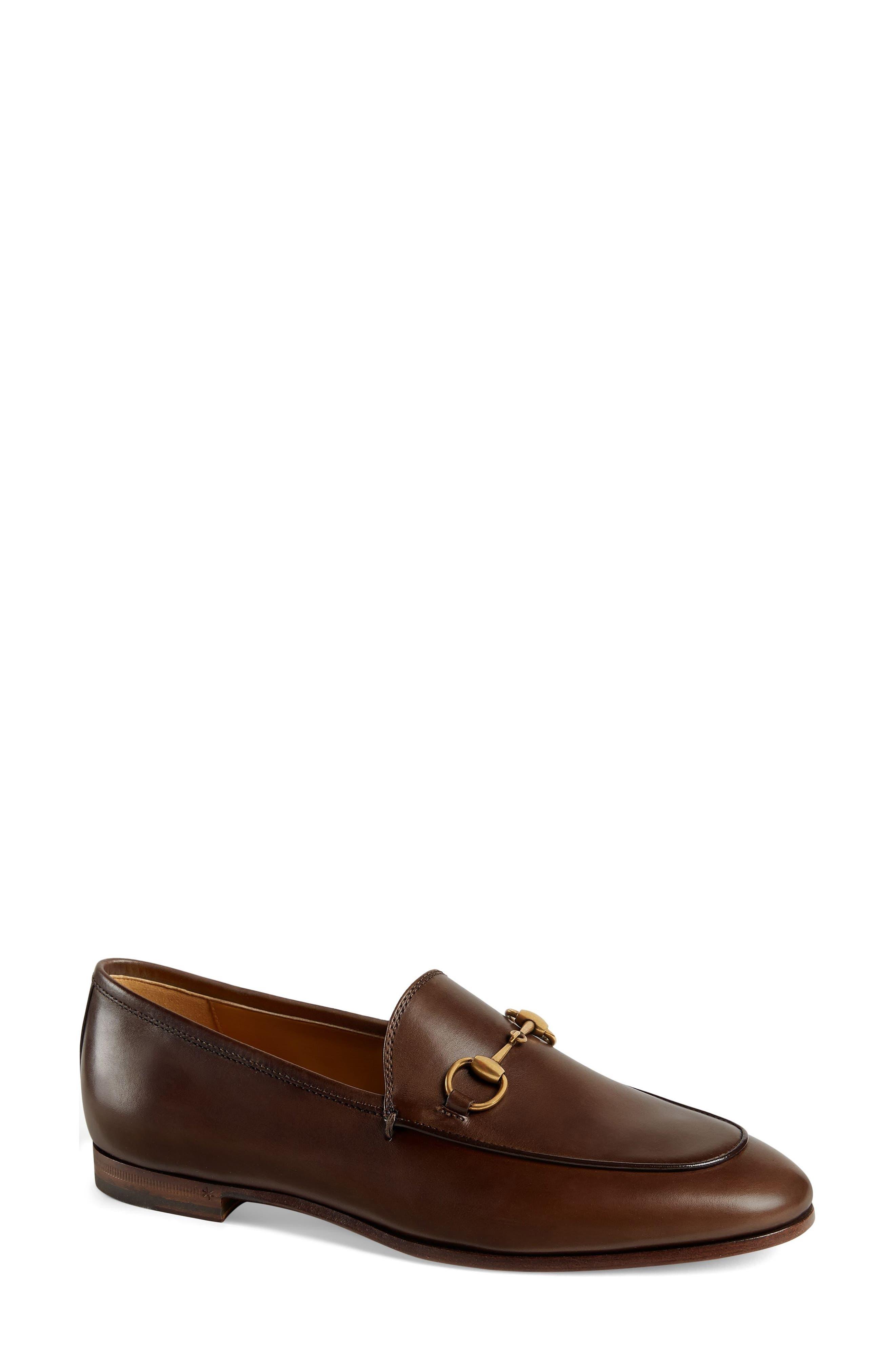 GUCCI 'Jordaan' Loafer, Main, color, FONDENTE BROWN