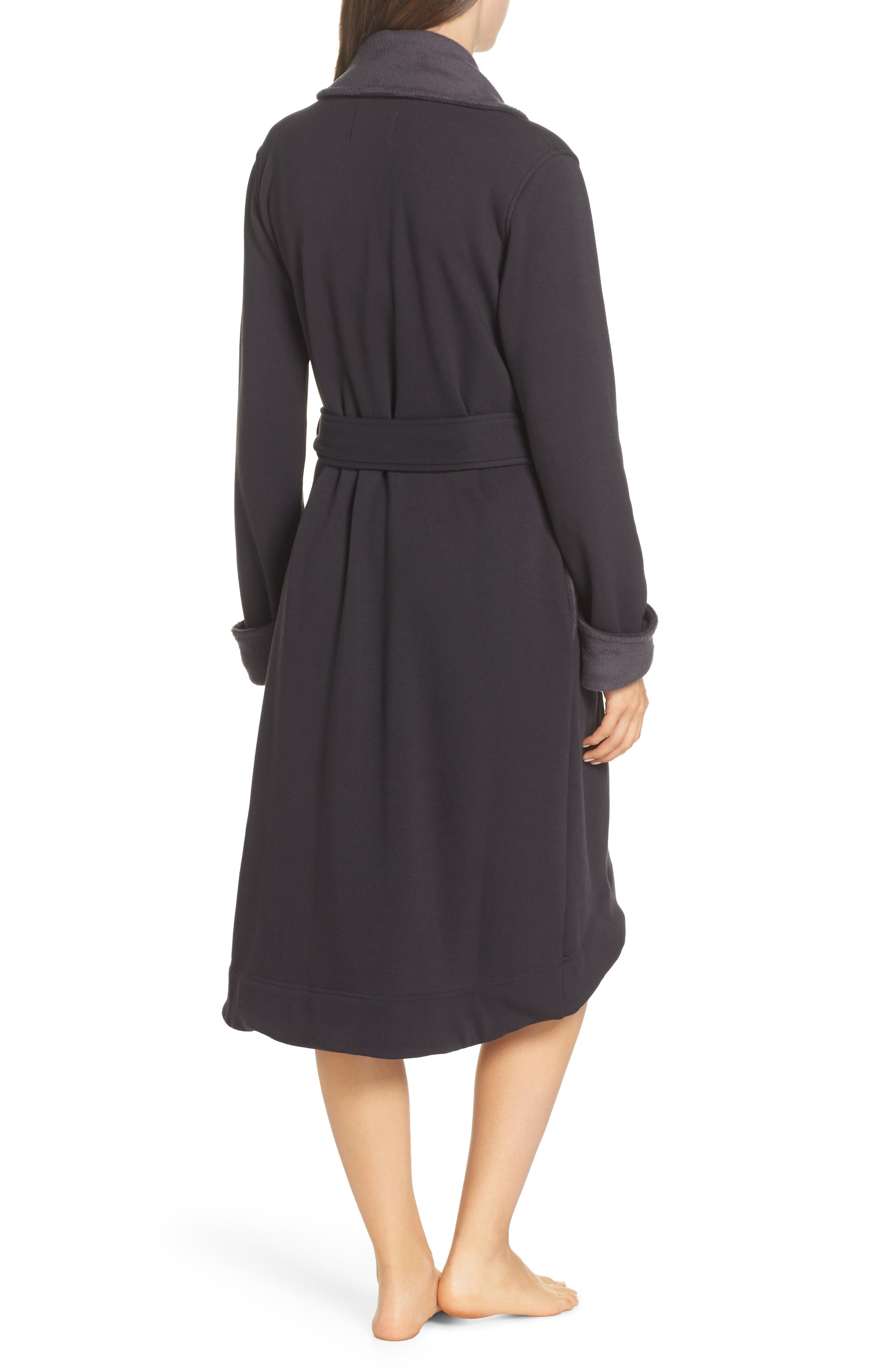 UGG<SUP>®</SUP>, Duffield II Robe, Alternate thumbnail 2, color, CHARCOAL